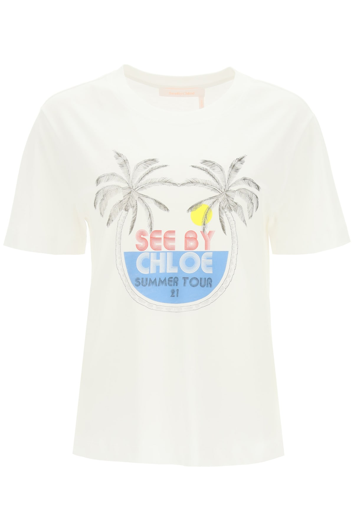 See By Chloé SUMMER TOUR PRINT T-SHIRT
