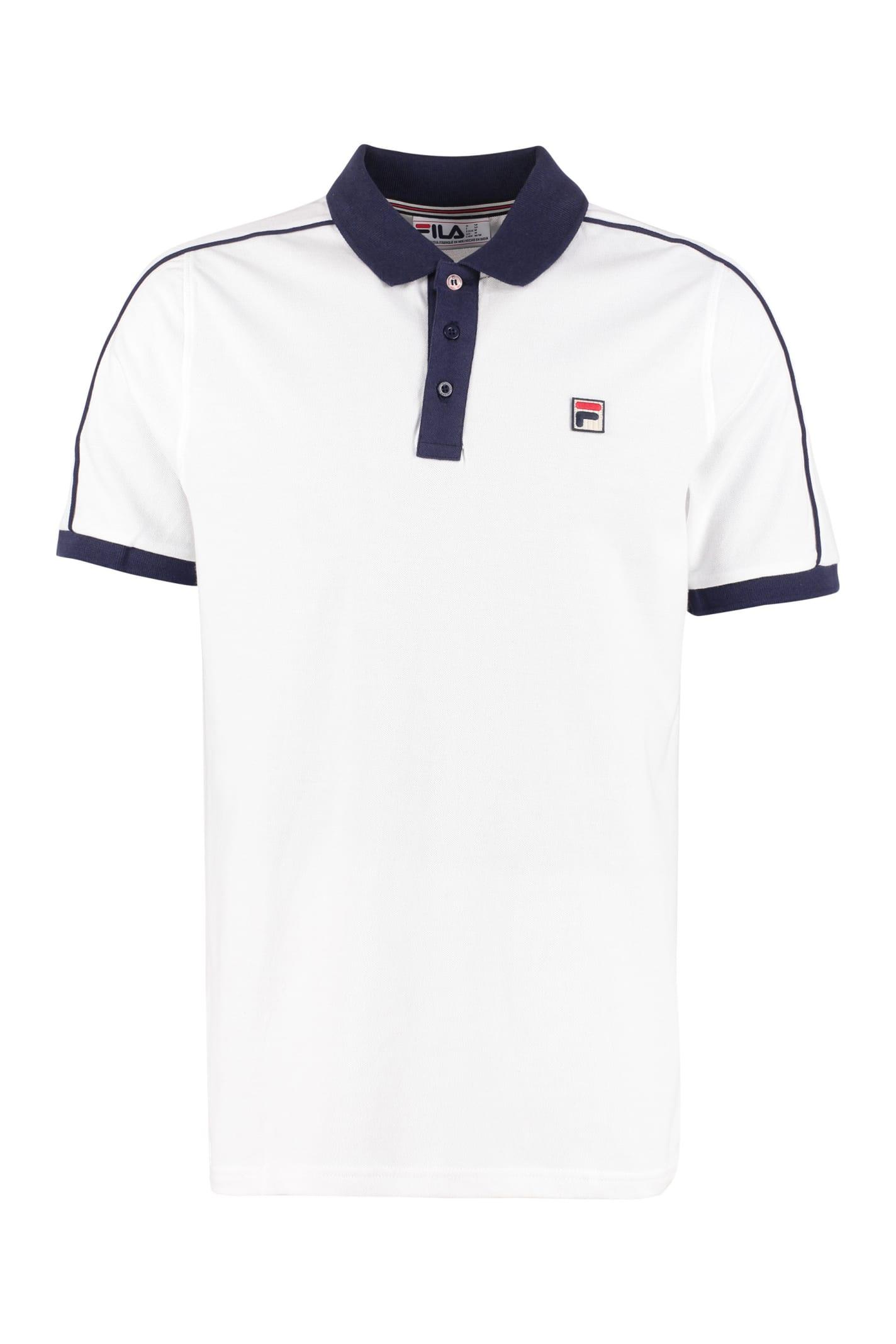 Best price on the market at italist | Fila Fila Klein Cotton Piqué Polo  Shirt