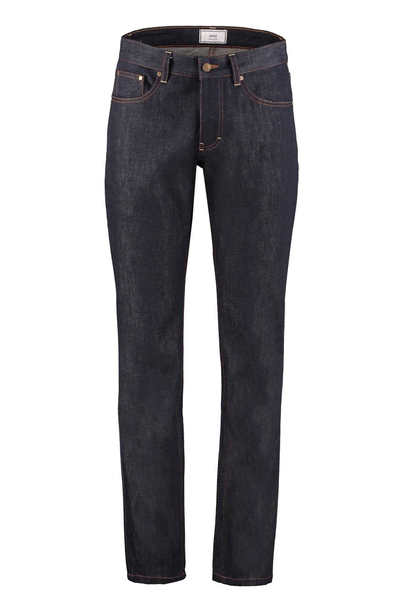 Ami Alexandre Mattiussi 5-pocket Jeans In Denim