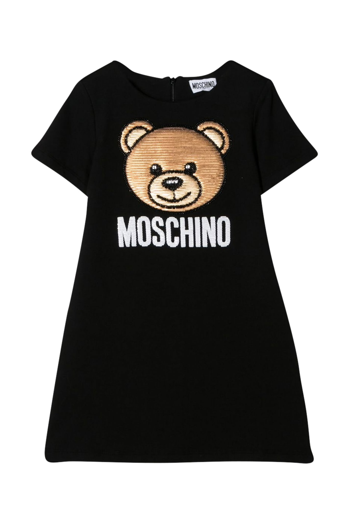 Buy Moschino Kids Embroidered Dress online, shop Moschino with free shipping