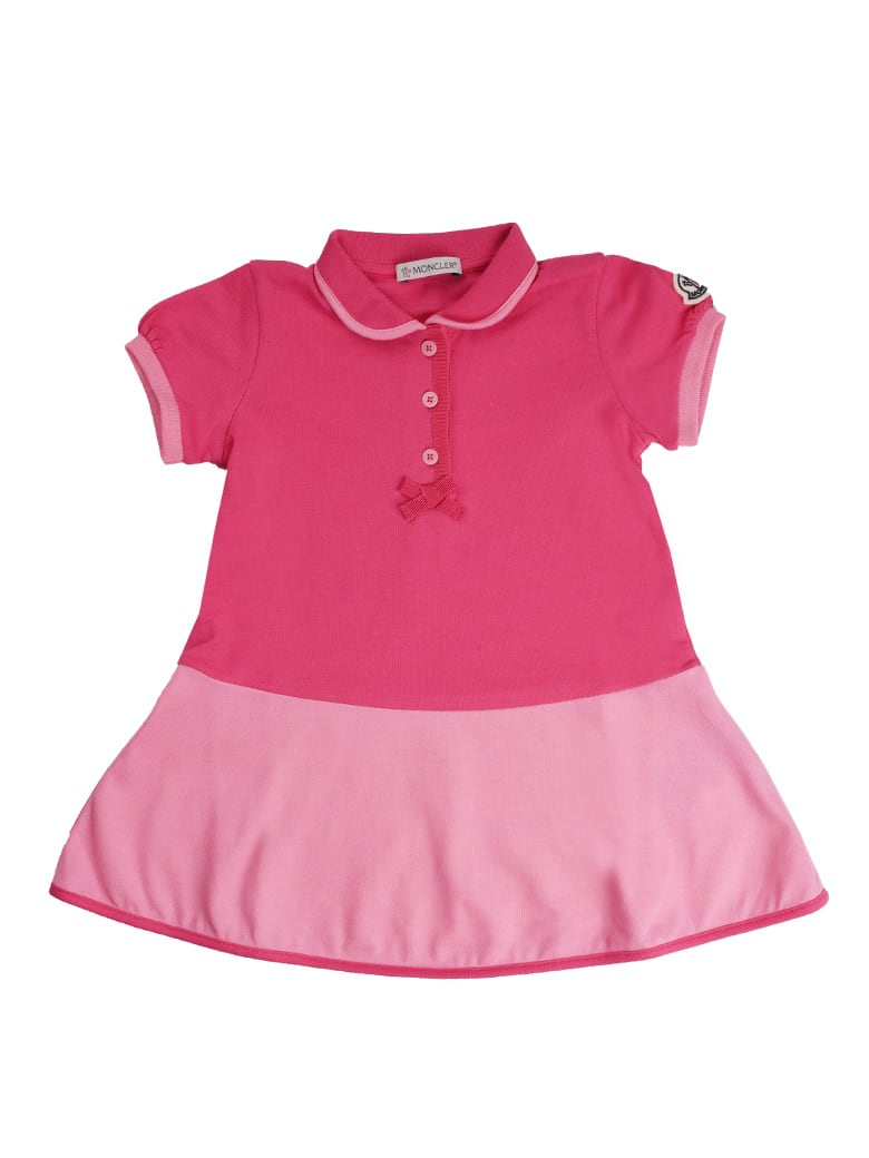 Buy Moncler Fuchsia And Pink Short Sleeve Dress With Culotte online, shop Moncler with free shipping