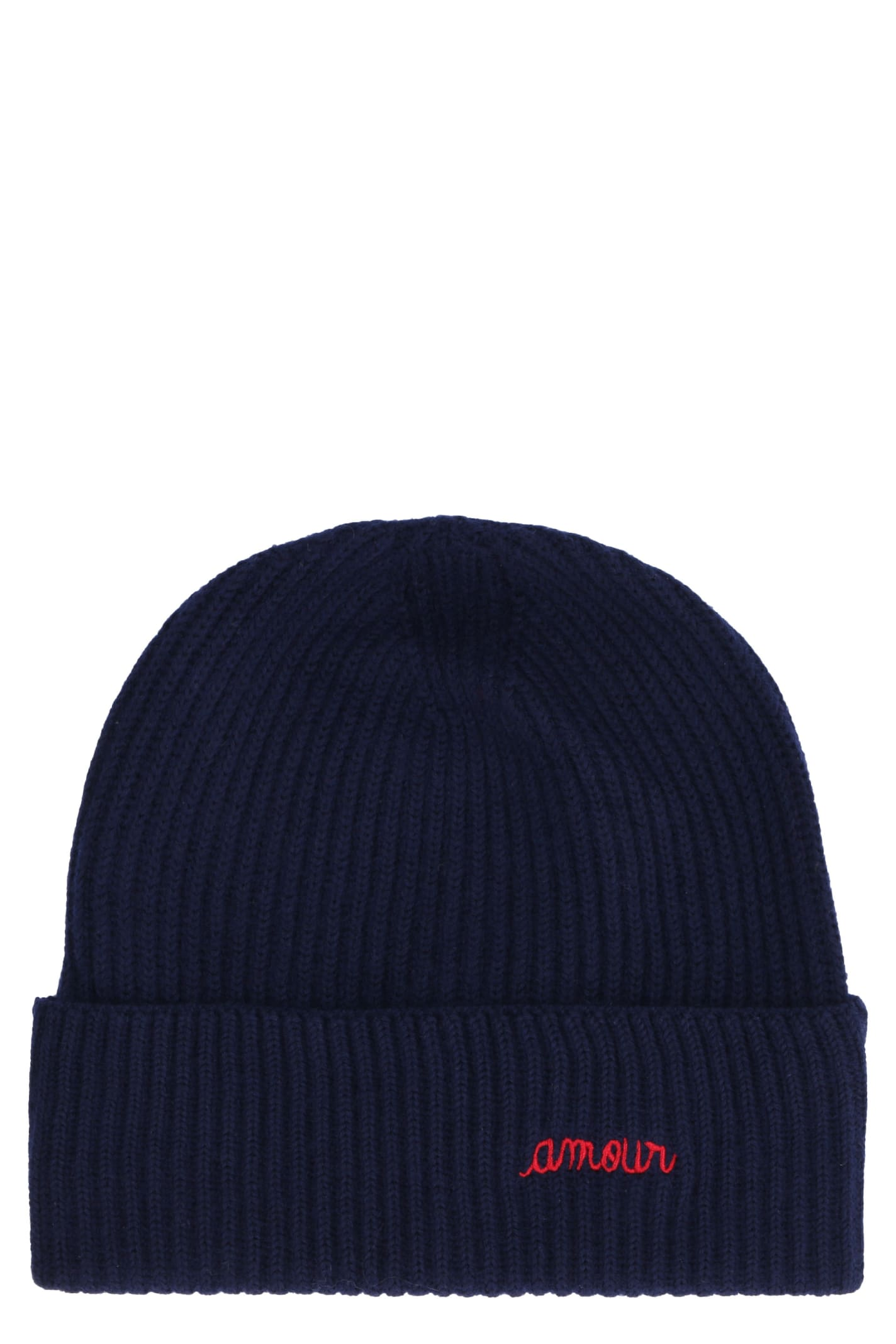 Amour Ribbed Knit Beanie