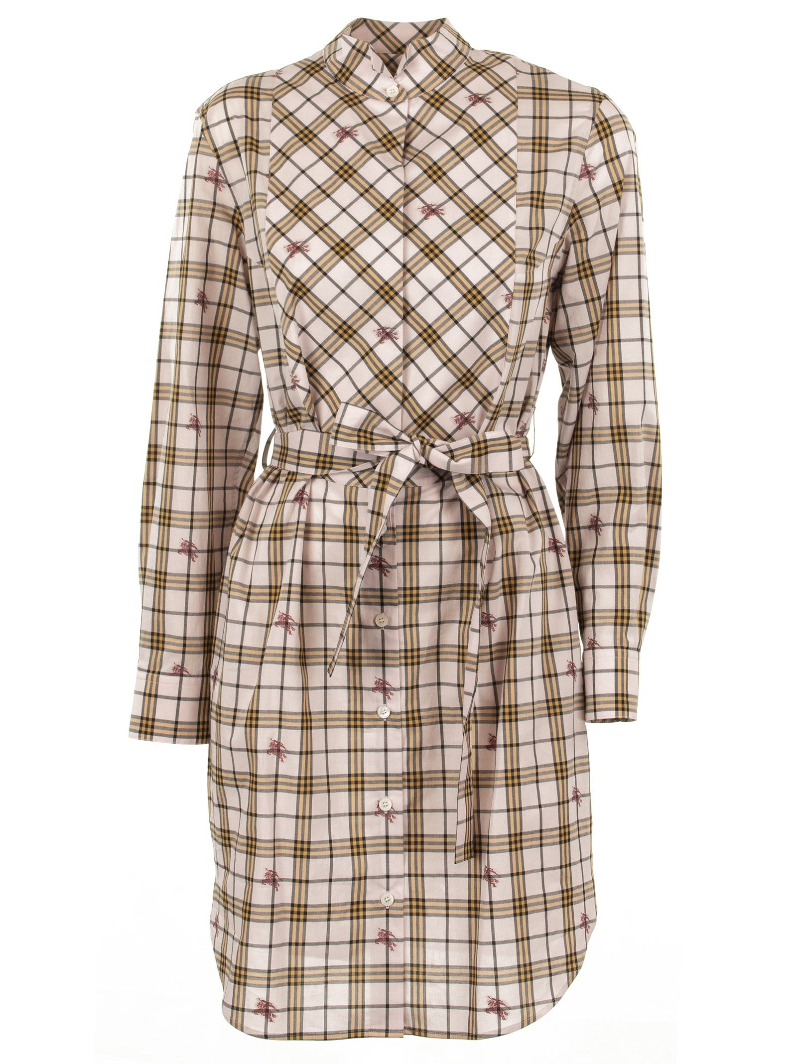 Photo of  Burberry Equestrian Knight Check Shirt Dress- shop Burberry  online sales