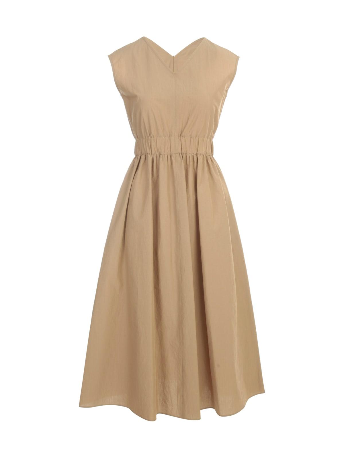 Antonelli Dresses V NECK SLEEVELESS DRESS W/ELASTIC WAIST