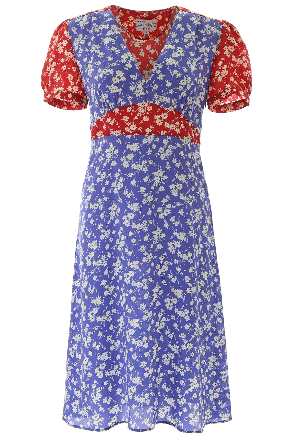 HVN Floral-printed Paula Dress