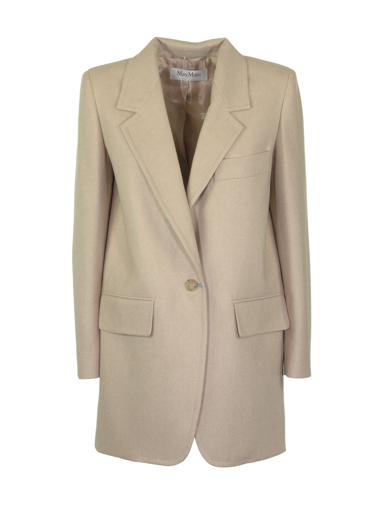 Photo of  Max Mara Beige Jacket- shop Max Mara jackets online sales