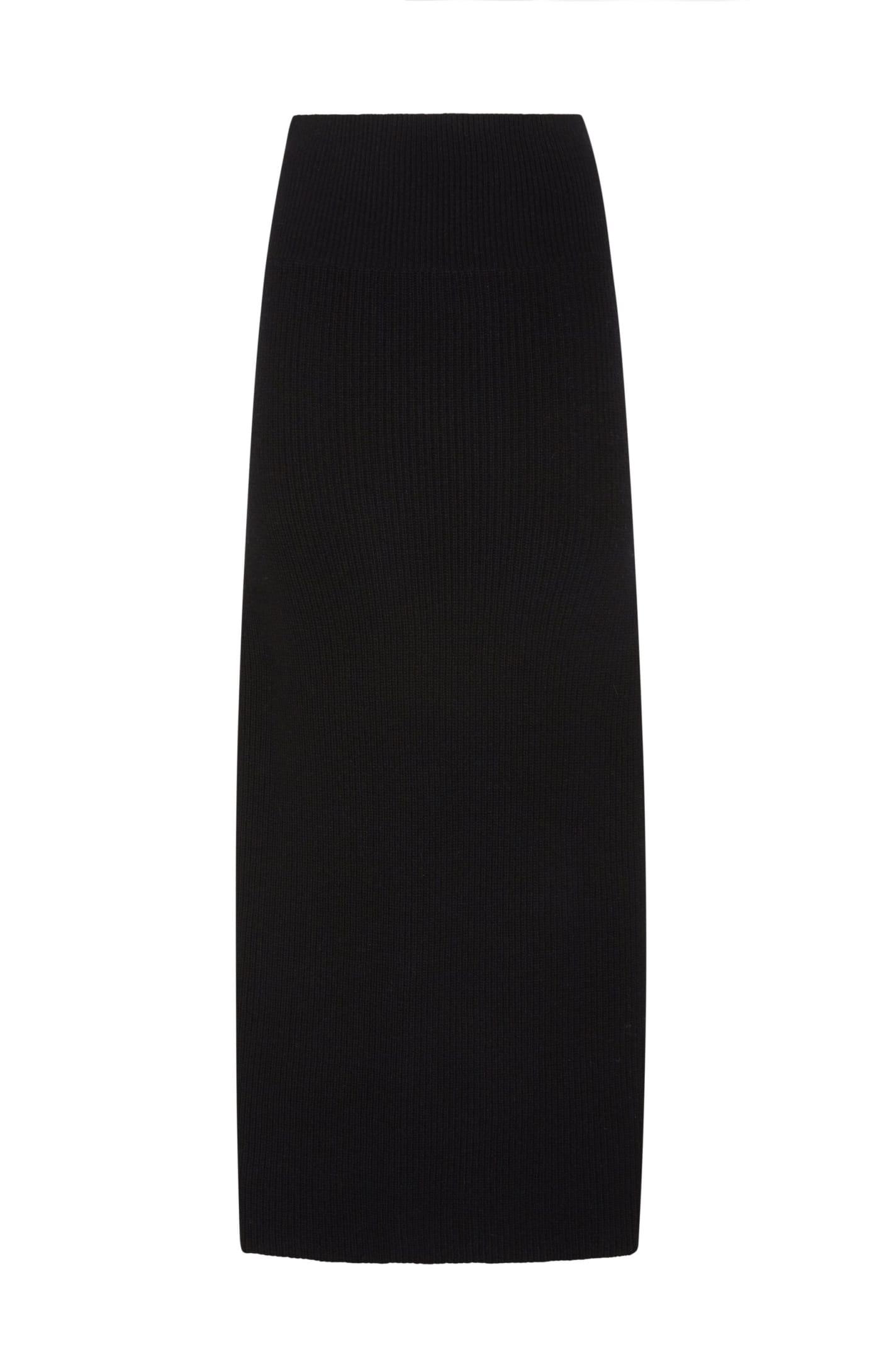 La Villa Skirt In Black Wool