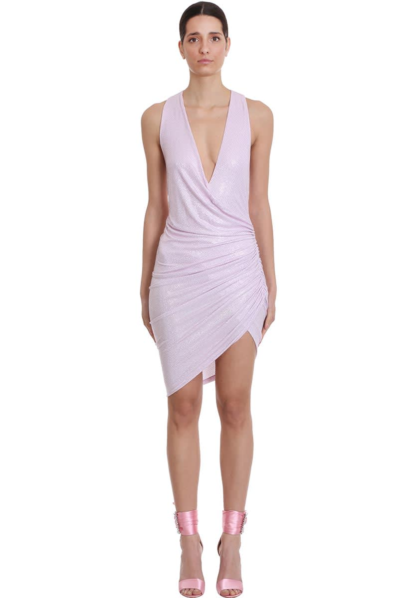 Buy Alexandre Vauthier Dress In Rose-pink Tech/synthetic online, shop Alexandre Vauthier with free shipping