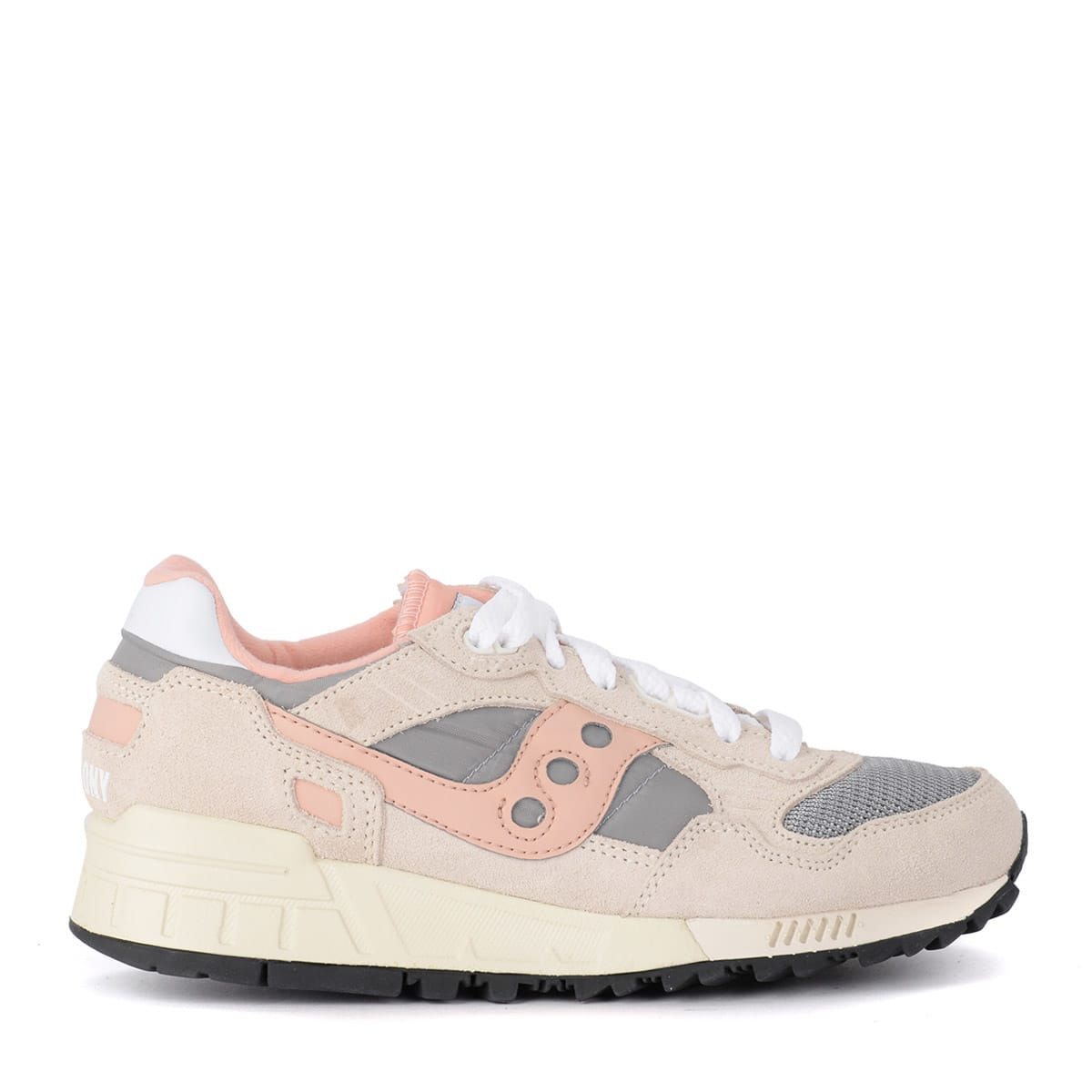 release date: 30c67 bd5e2 Saucony Shadow 5000 Vintage Pink And Grey Suede And Fabric Sneaker