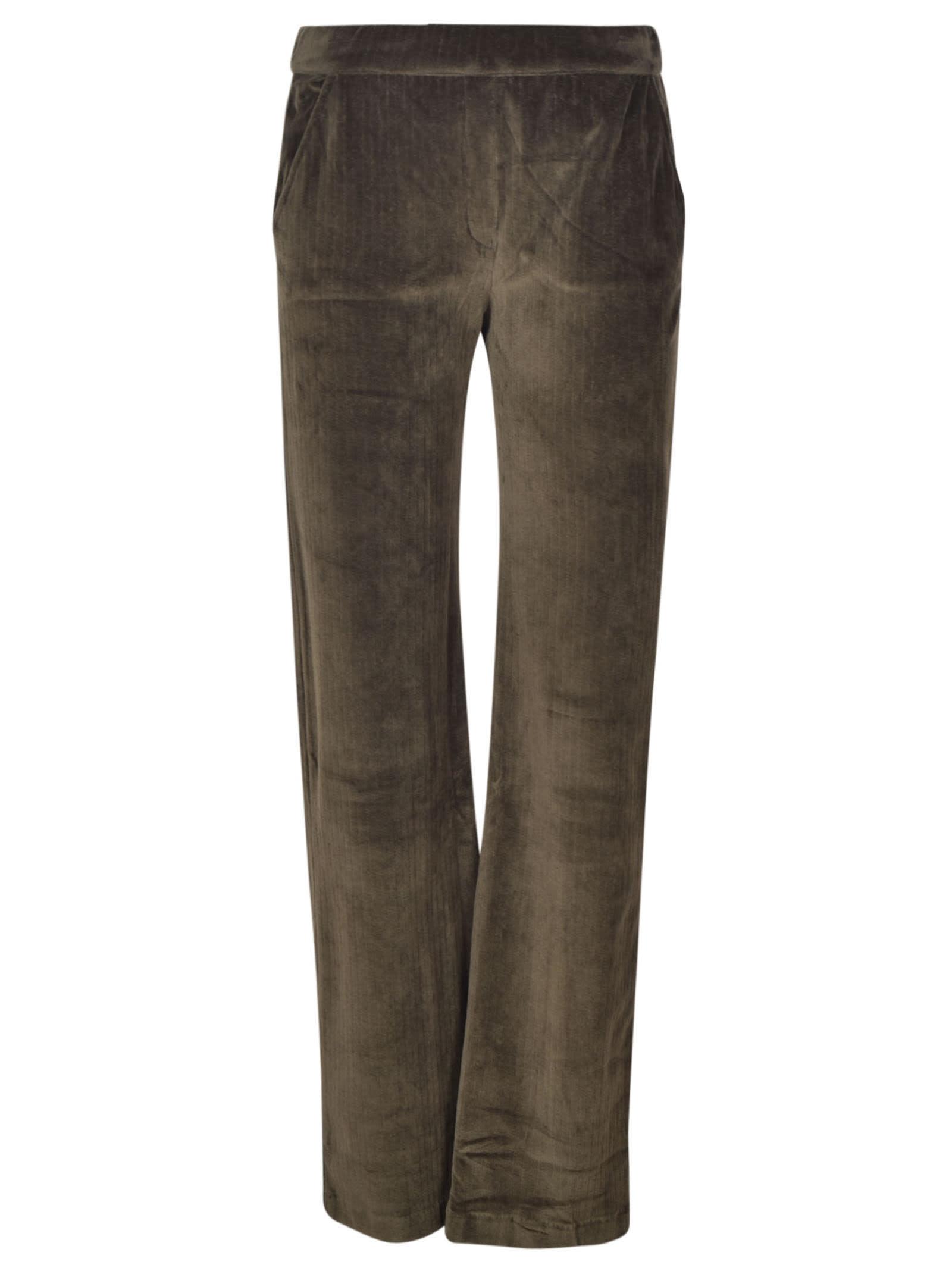 Majestic Straight Leg Corduroy Trousers In Deep Green