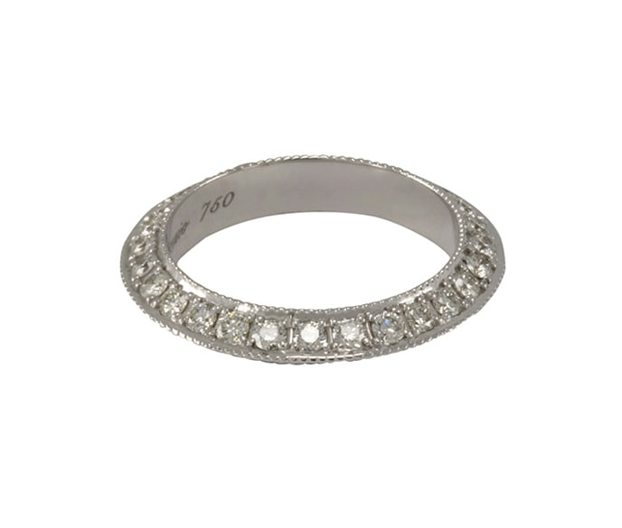 Lo Spazio Diamond Knife Edge Ring
