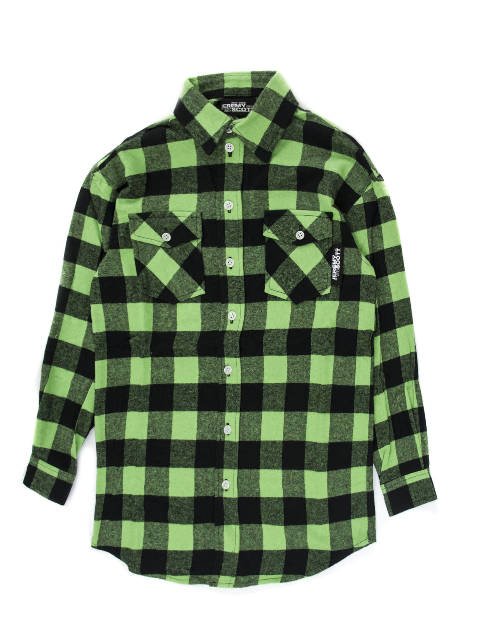 Black And Green Checked Shirt