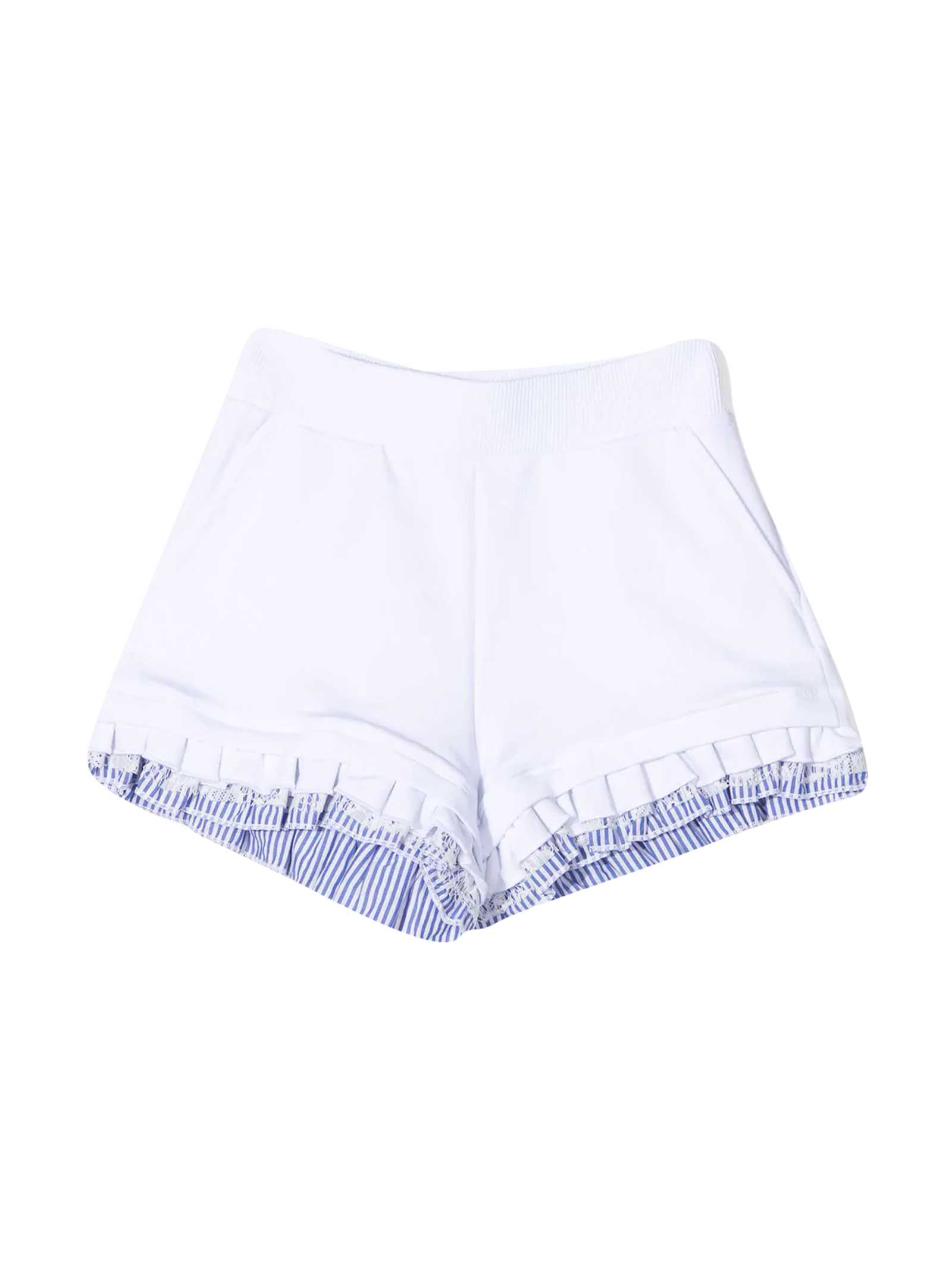 White And Light Blue Shorts