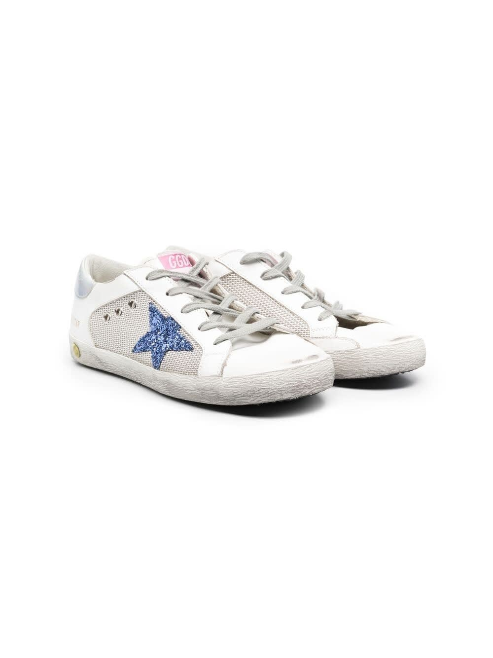 Golden Goose Sneakers With Laces And Glitter Star