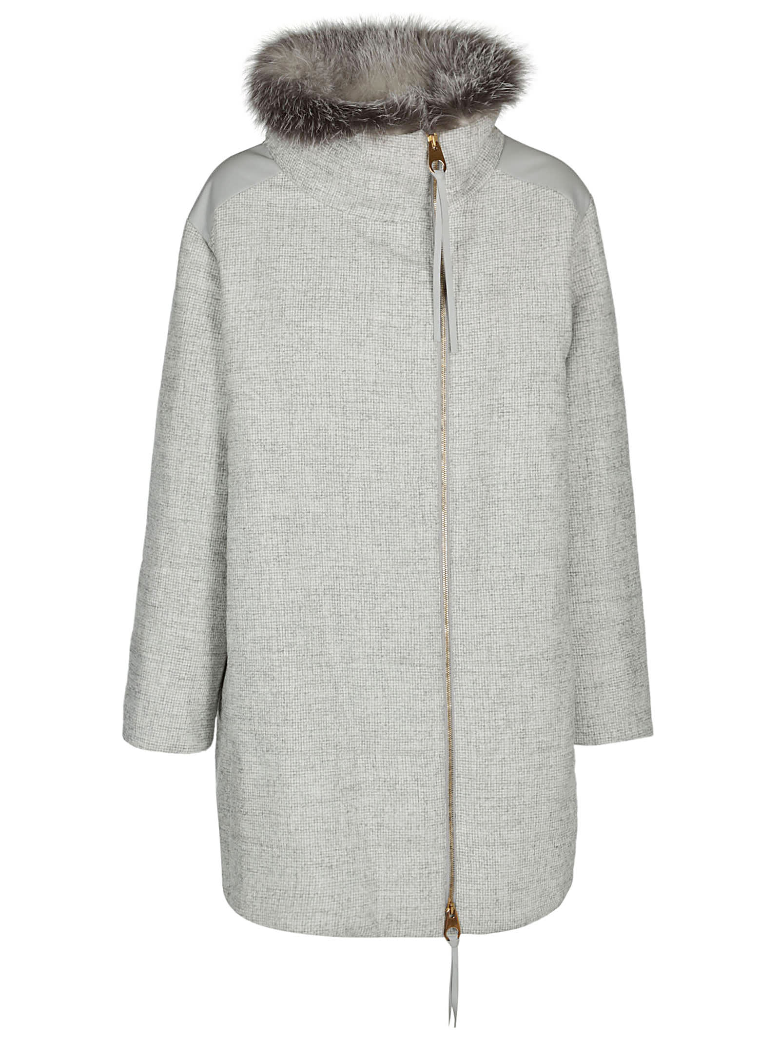 Agnona Zipped Mid-lenght Coat