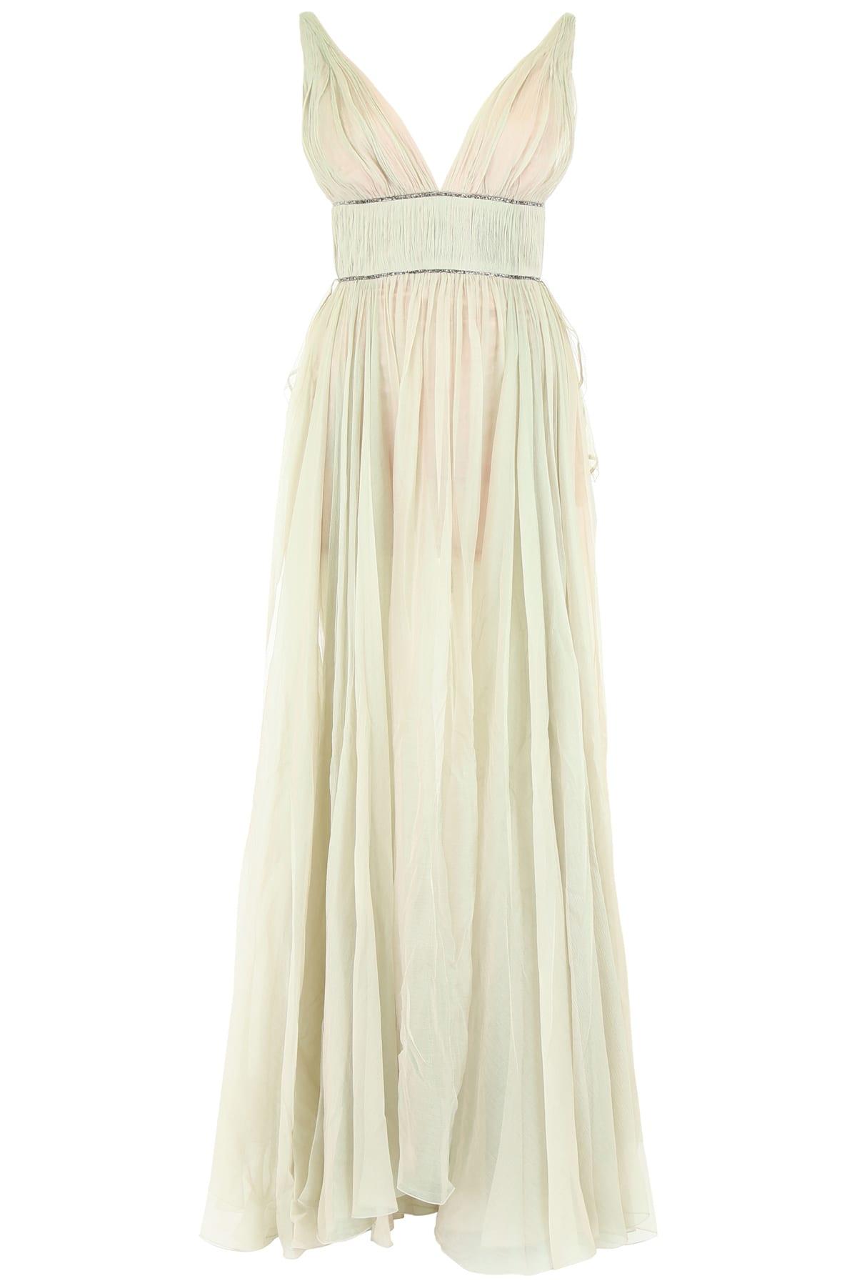 Maria Lucia Hohan Sage Silk And Crystal Dress
