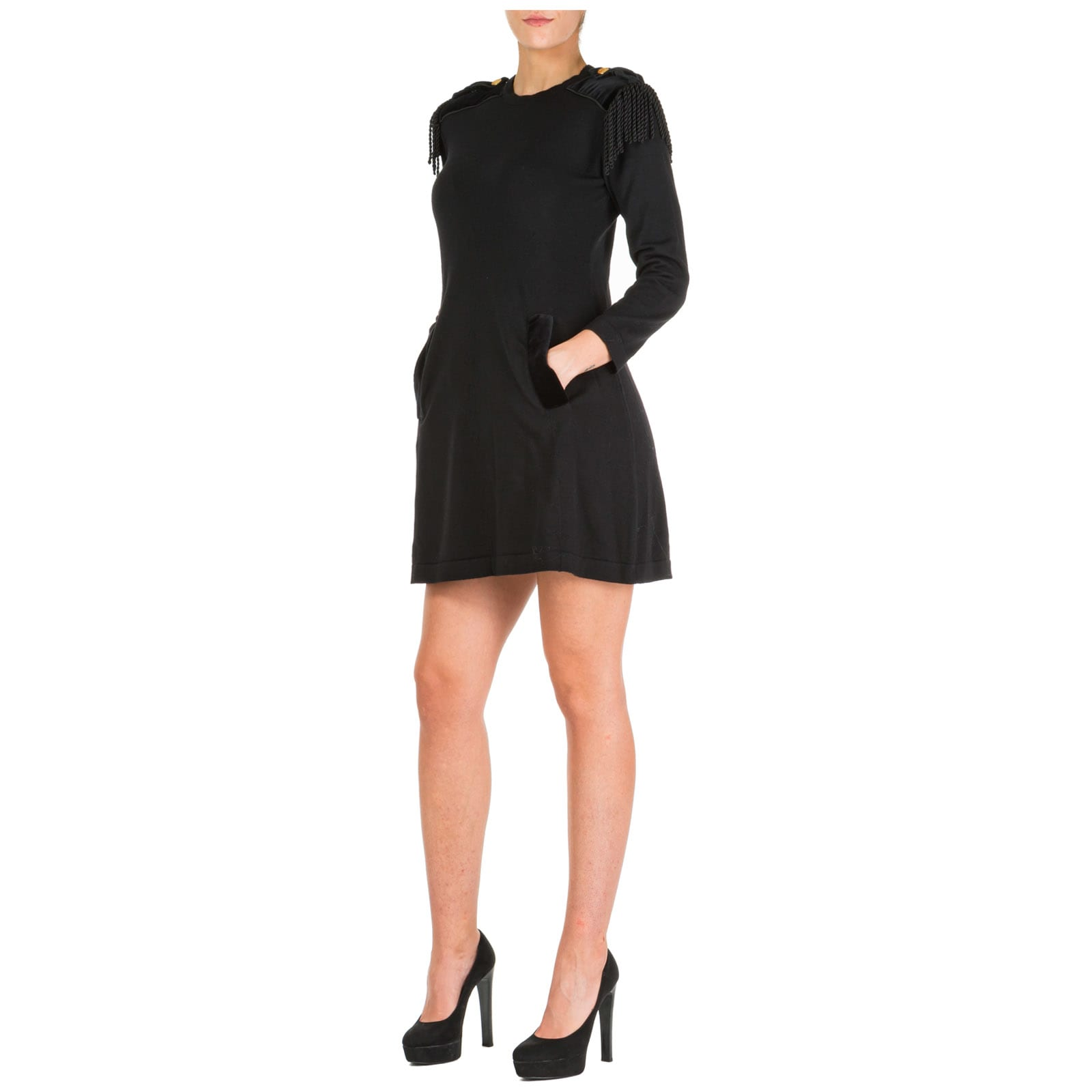 Alberta Ferretti Short Mini Dress Long Sleeve