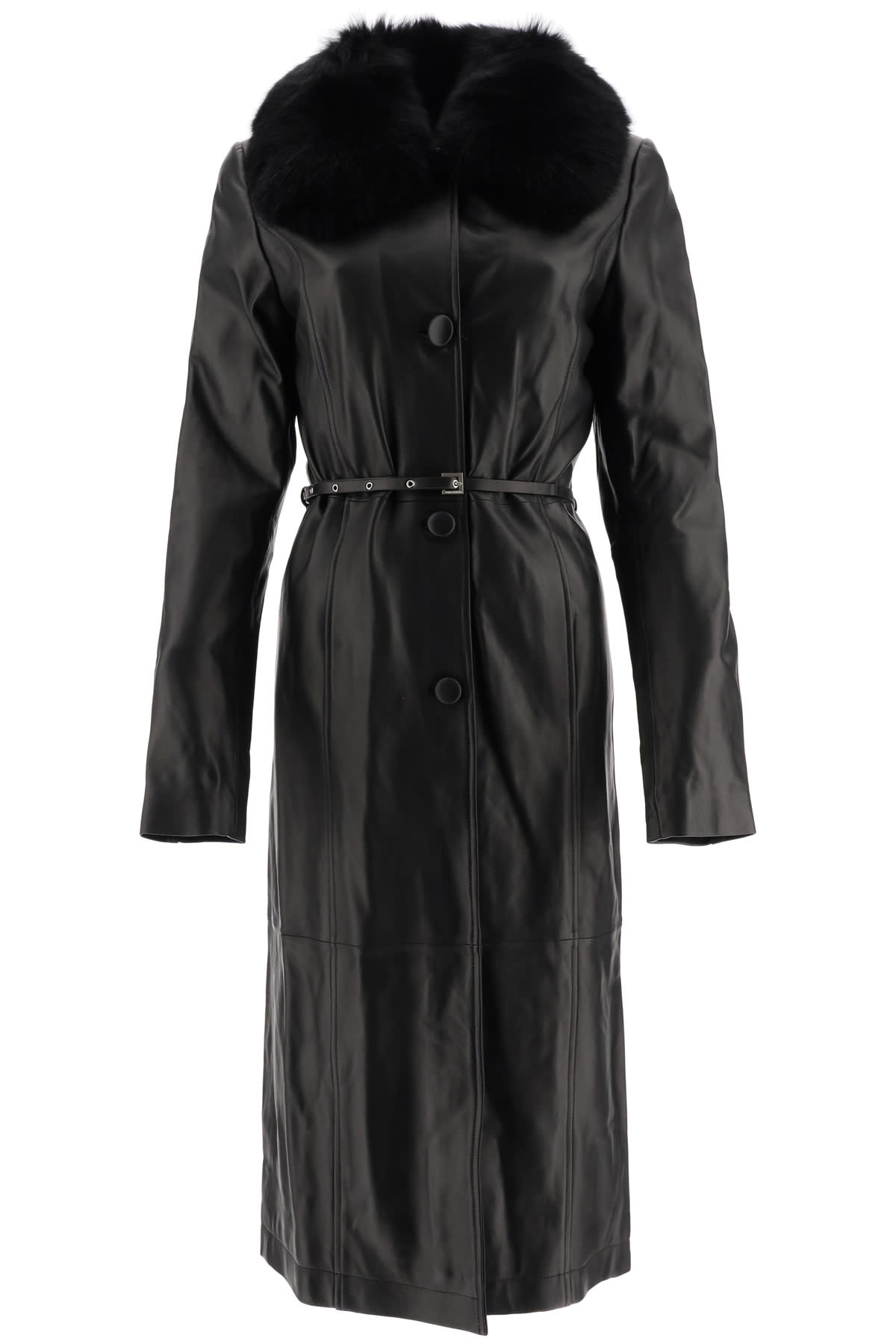 Saks Potts CHARLOT LEATHER COAT
