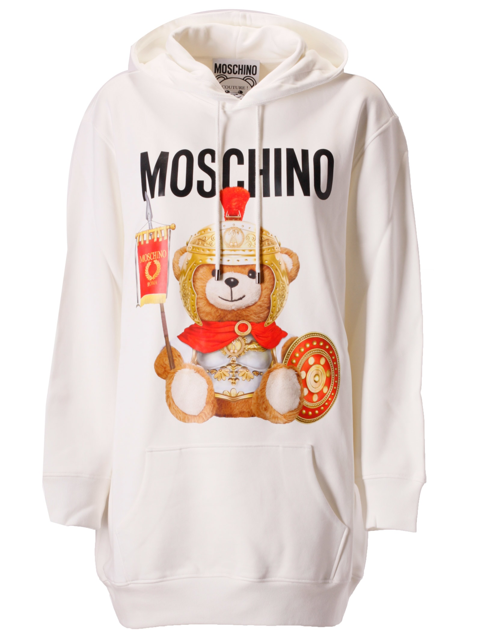 Moschino Bear Logo Print Hoodie Dress