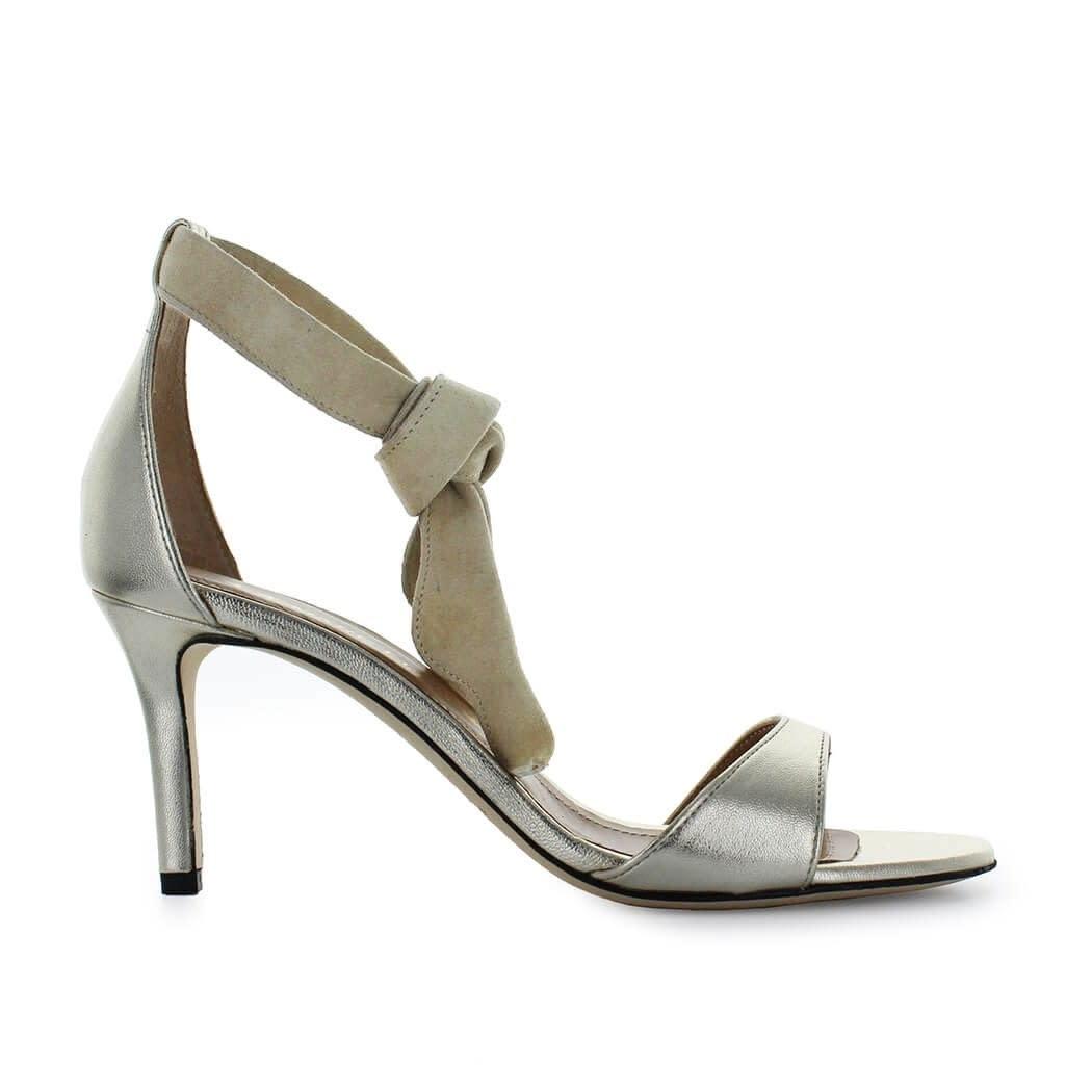 Platinum Suede Sandal