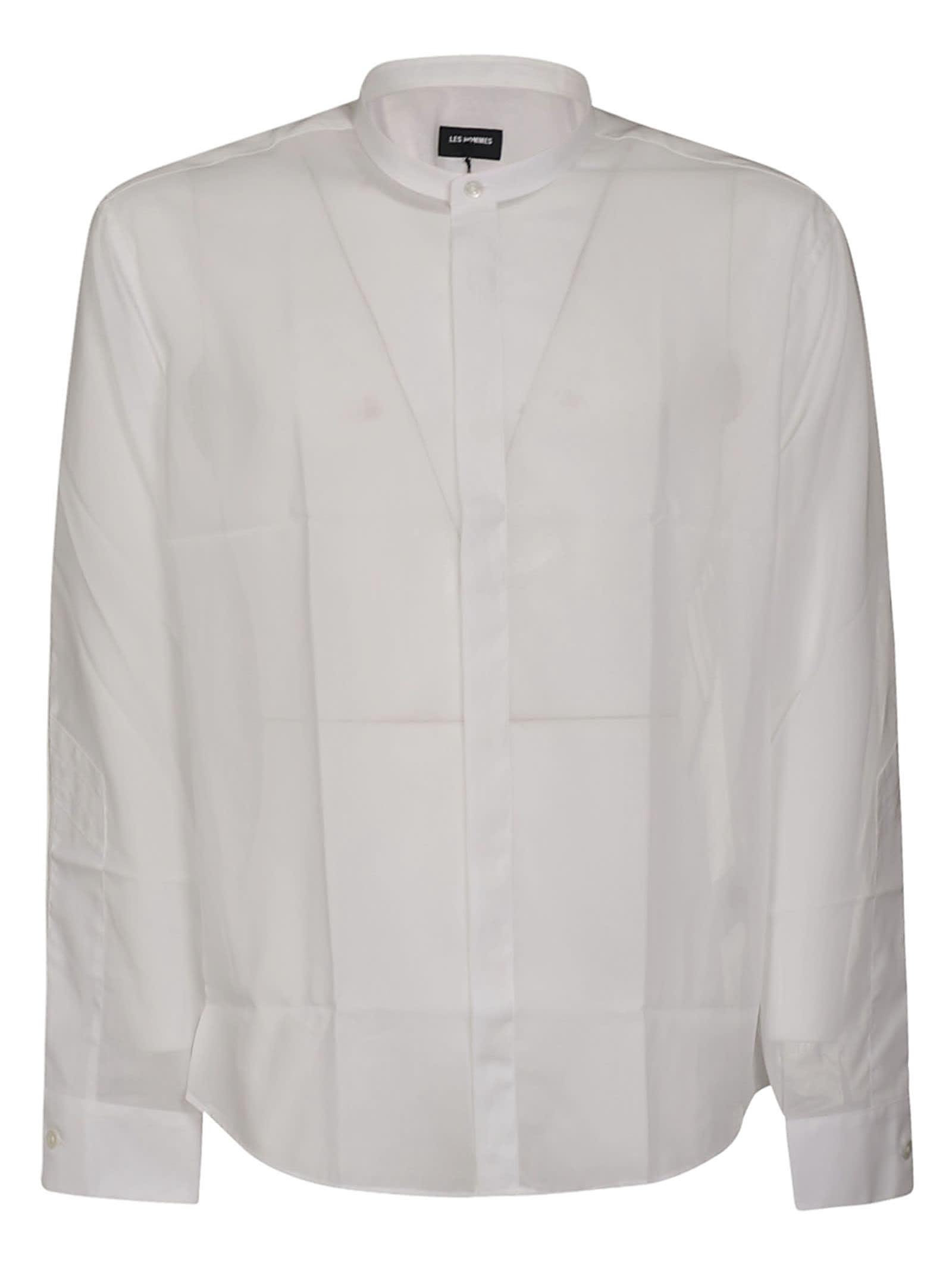 Les Hommes Korean Collar Classic-fit T-shirt