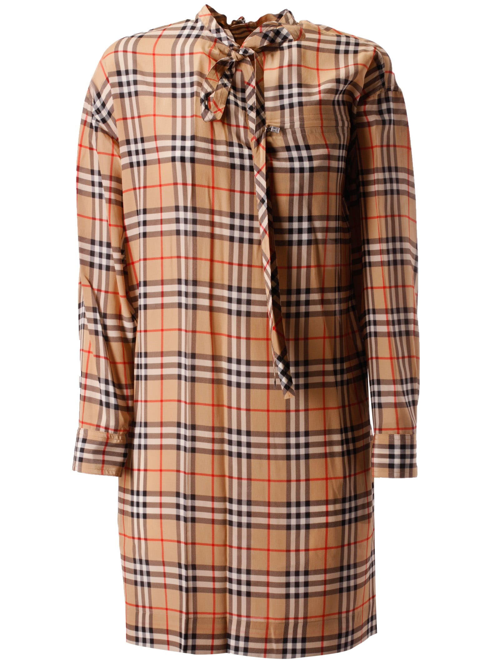 Burberry Checked Tie Dress