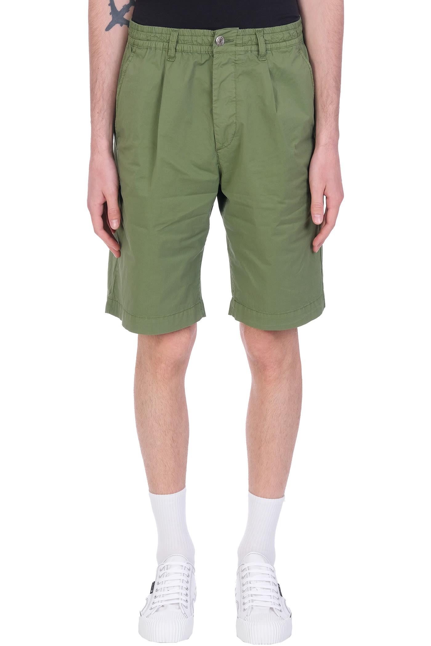 Harrison Shorts In Green Cotton