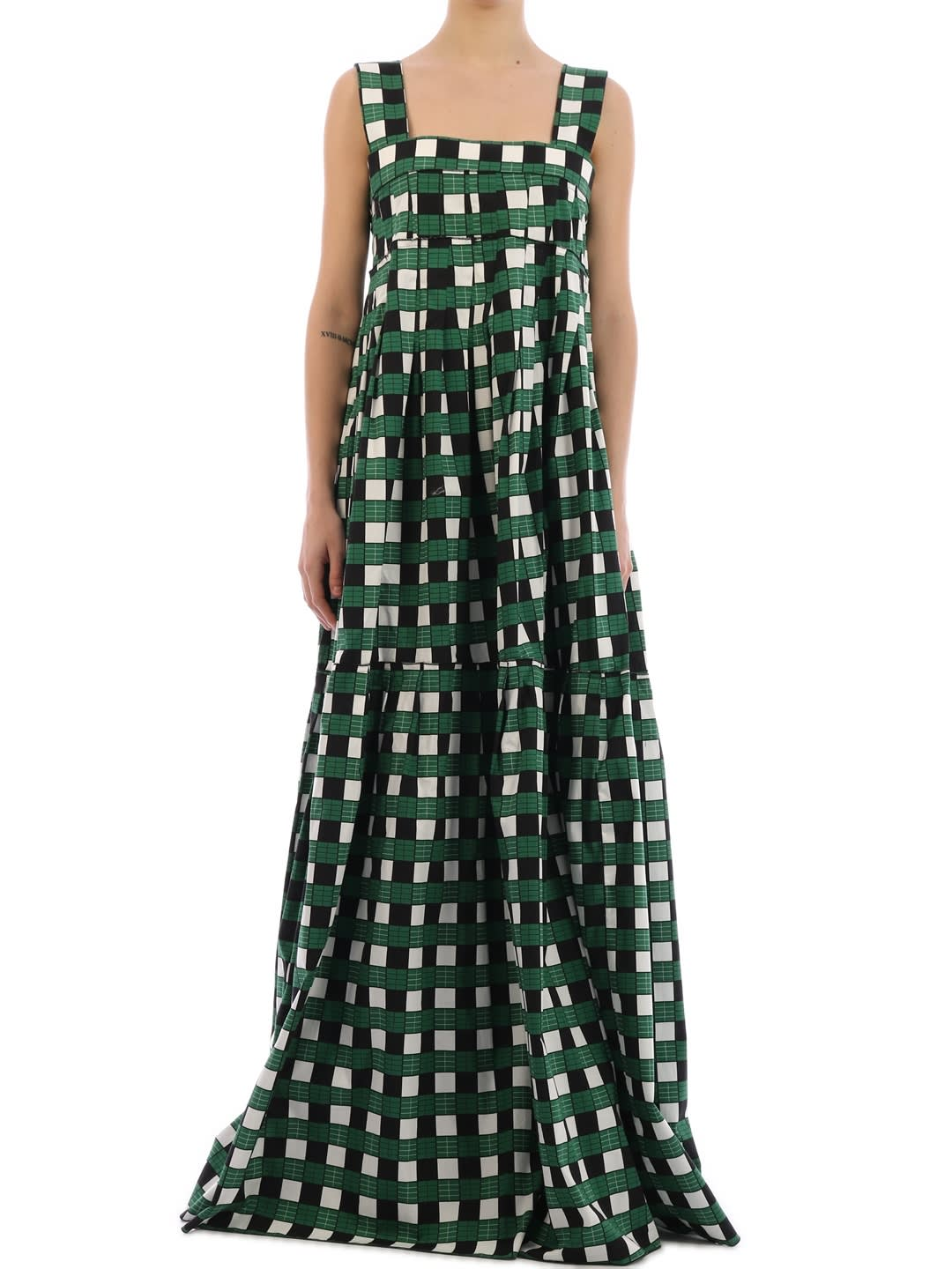 Buy Plan C Long Checked Dress online, shop Plan C with free shipping