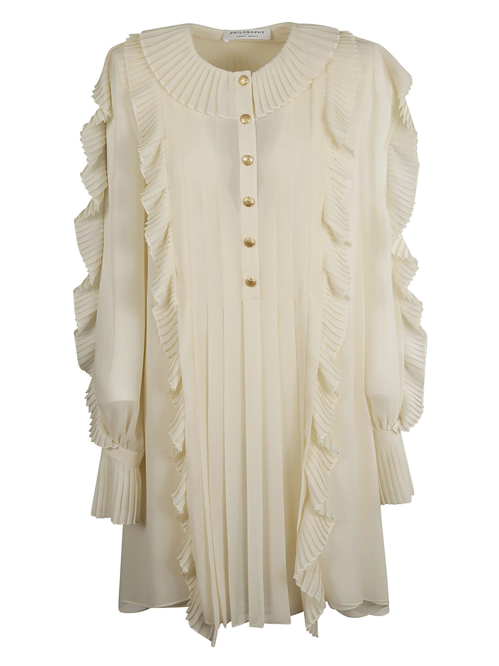 Buy Philosophy di Lorenzo Serafini Ruffled Dress online, shop Philosophy di Lorenzo Serafini with free shipping