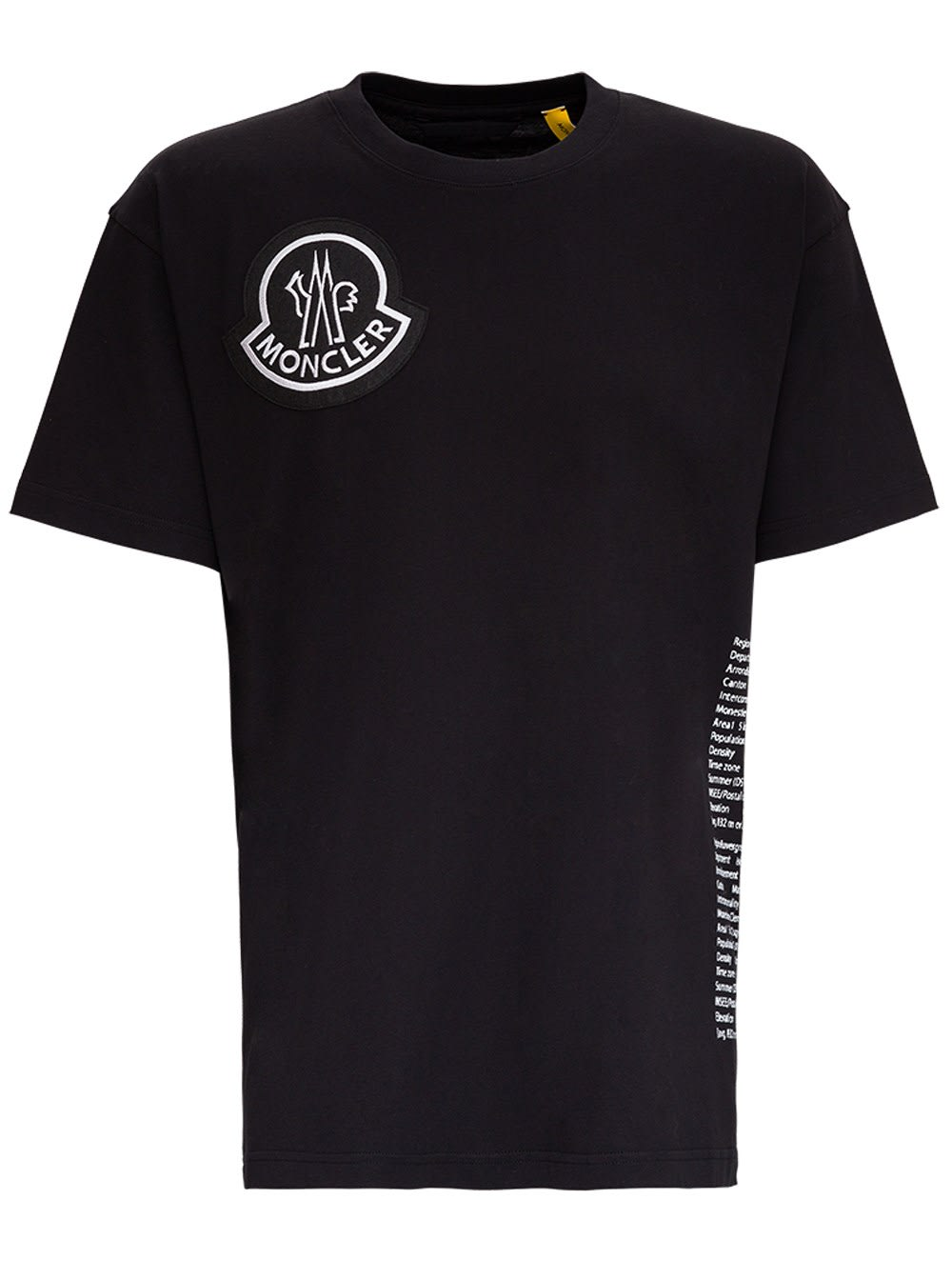 Moncler Lettering Tee By 1952 In Black