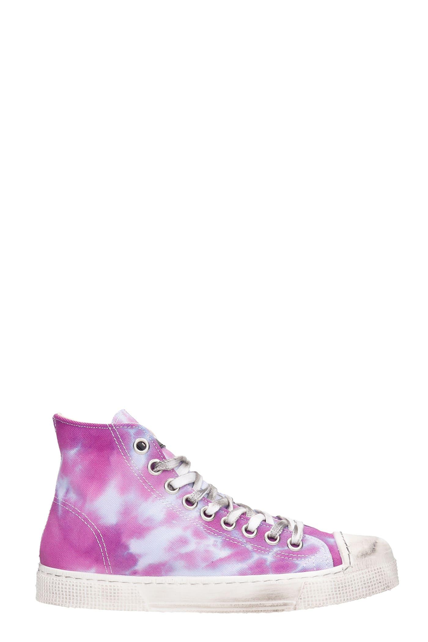 J.m High Sneakers In Viola Canvas