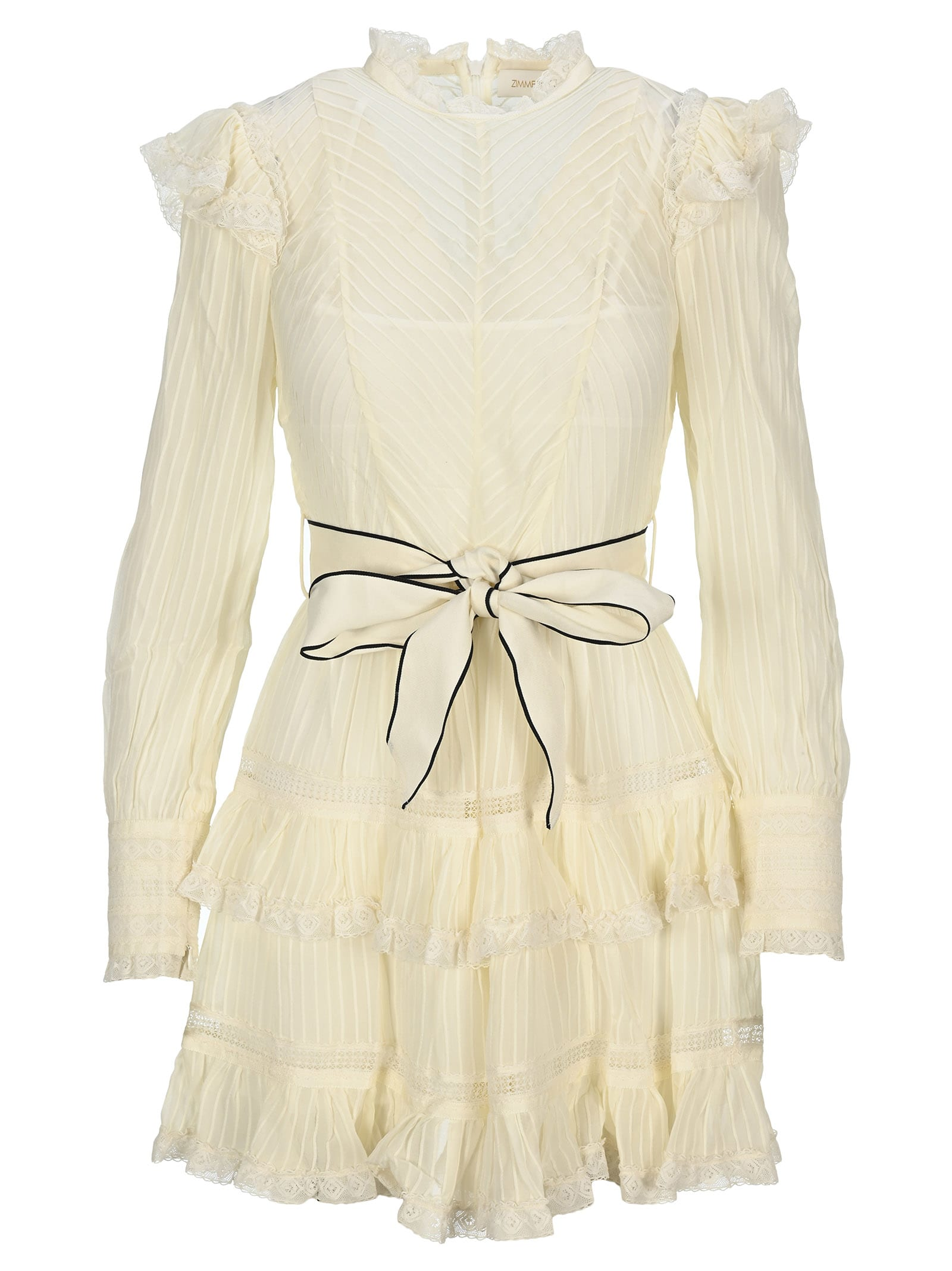 Buy Zimmermann Ruffle-trimmed Mini Dress online, shop Zimmermann with free shipping