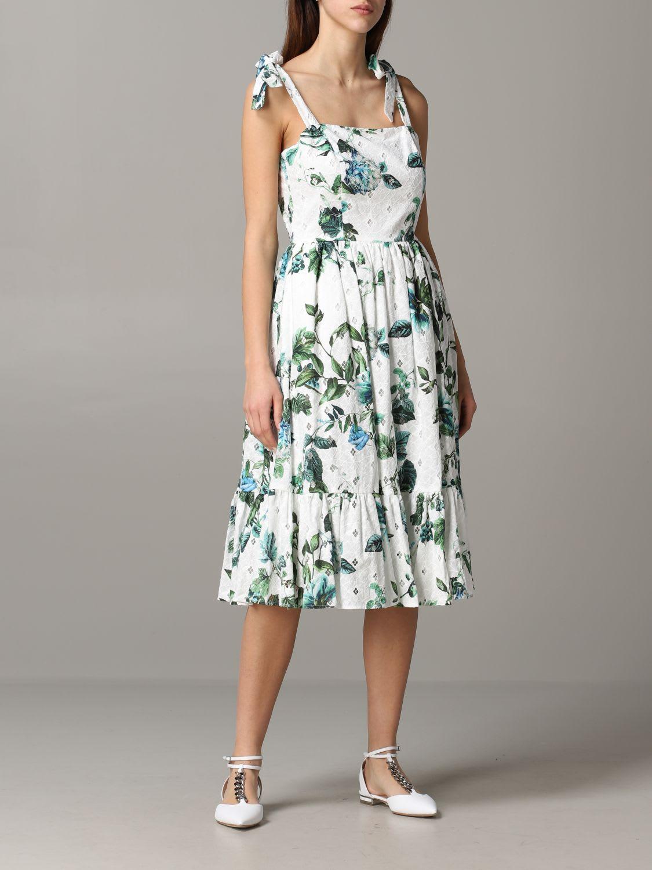 Buy Blumarine Dress Blumarine Dress With Floral Pattern online, shop Blumarine with free shipping