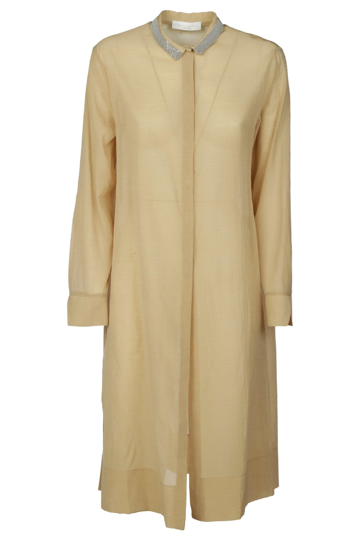 Buy Fabiana Filippi Long Shirt Dress online, shop Fabiana Filippi with free shipping