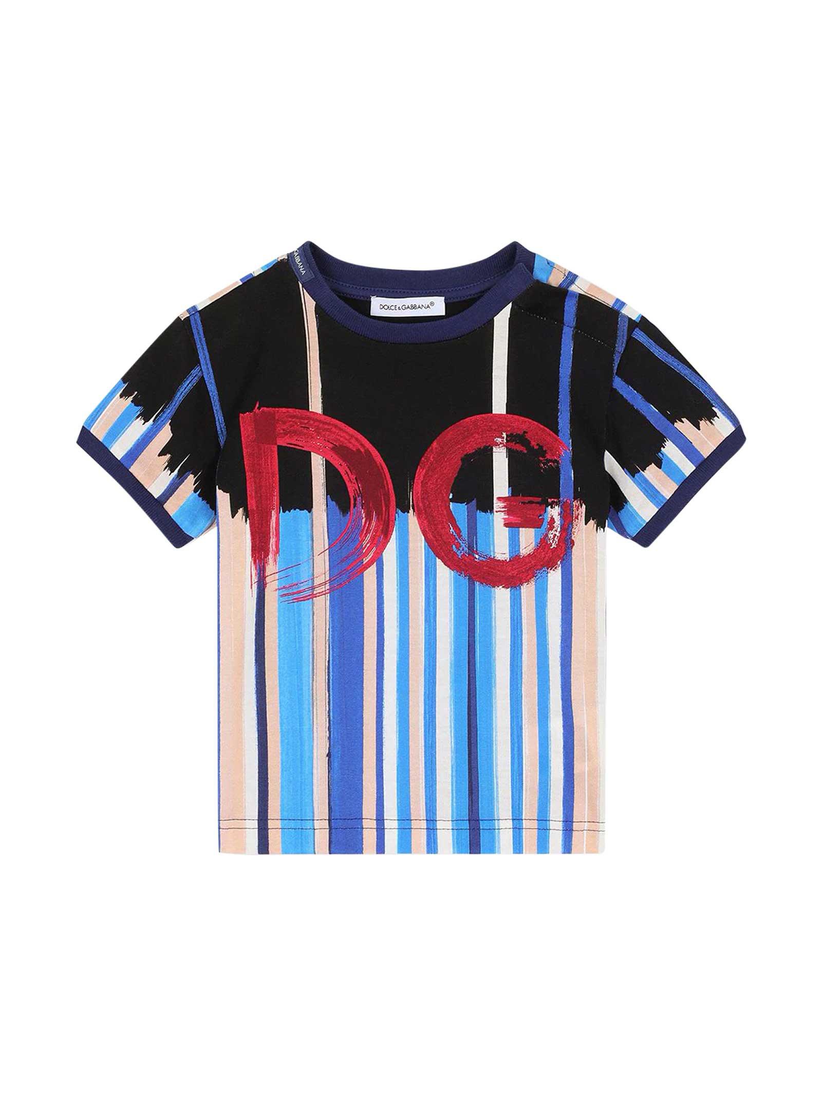 Dolce & Gabbana Cottons STRIPED T-SHIRT
