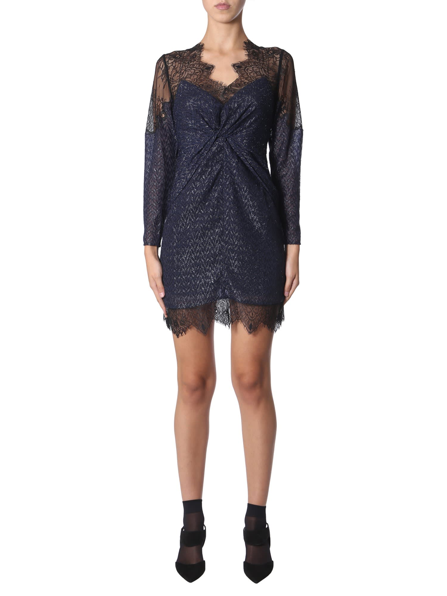 Buy self-portrait Dress In Cut Threads online, shop self-portrait with free shipping