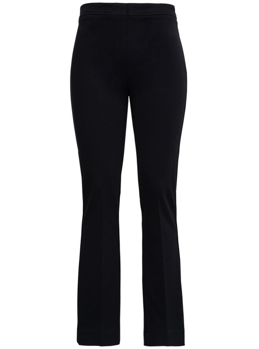 Black Flared Pants In Viscose Blend