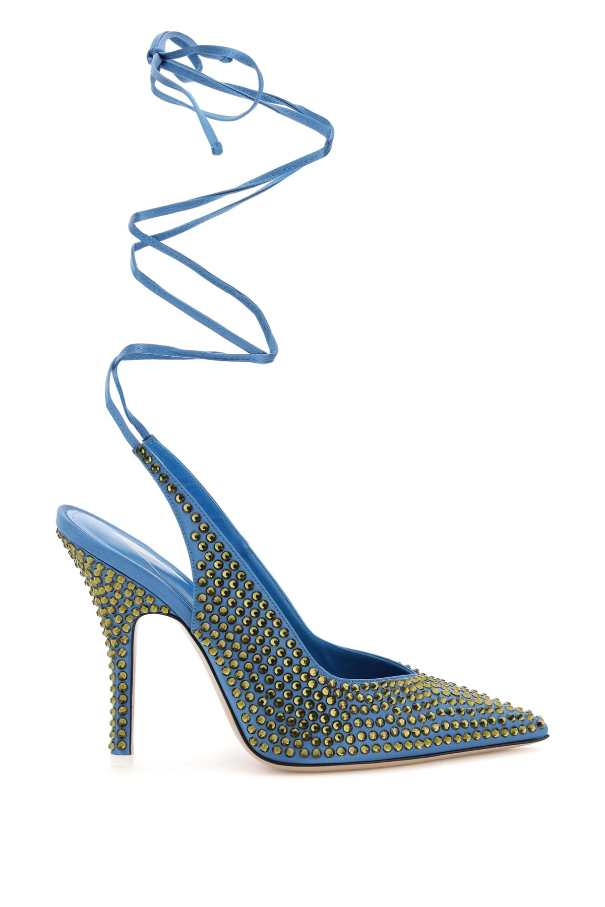 The Attico Wrap Around Slingback Pumps With Venus Crystals