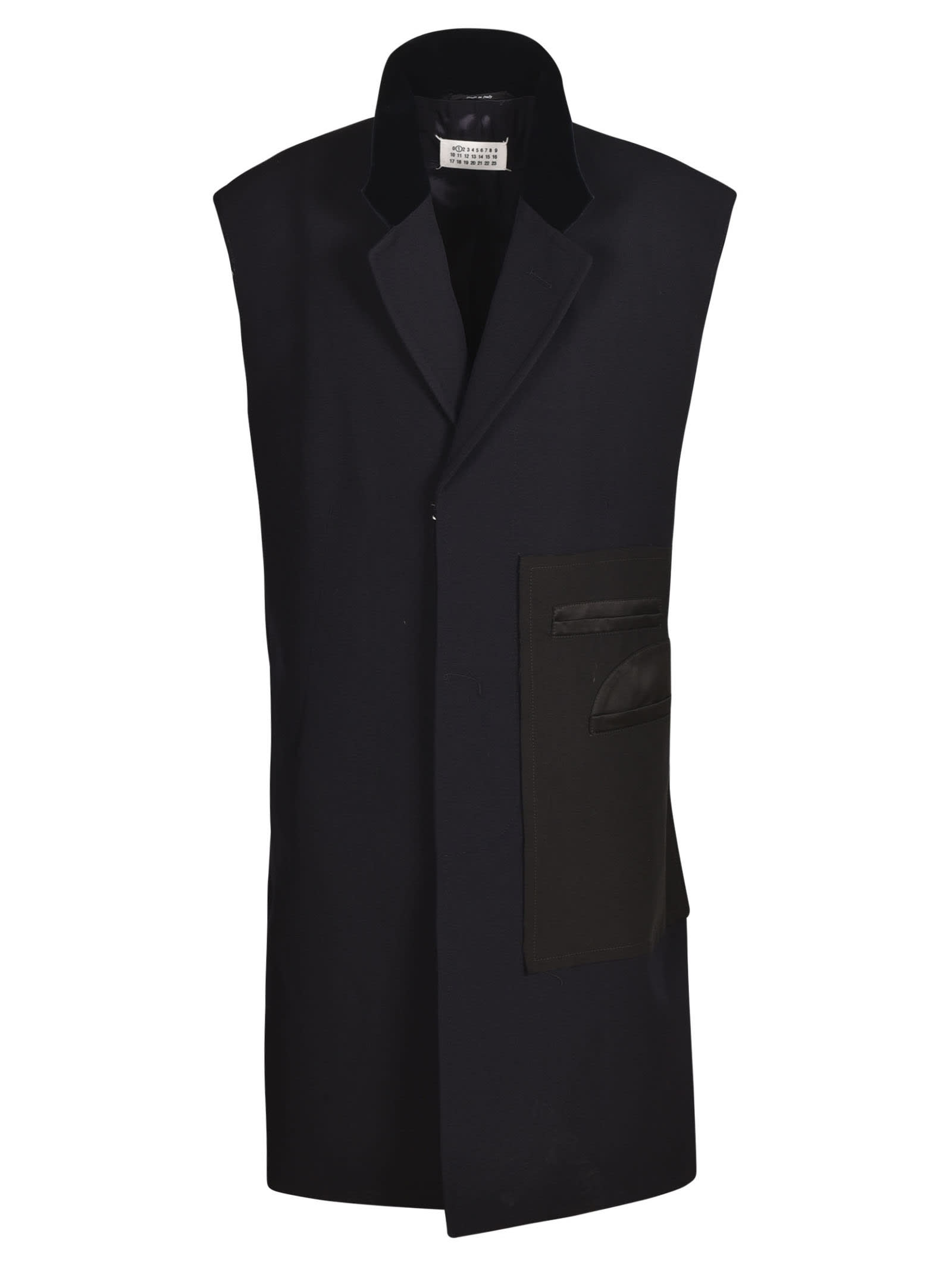 Maison Margiela Sleeveless Coat In Navy