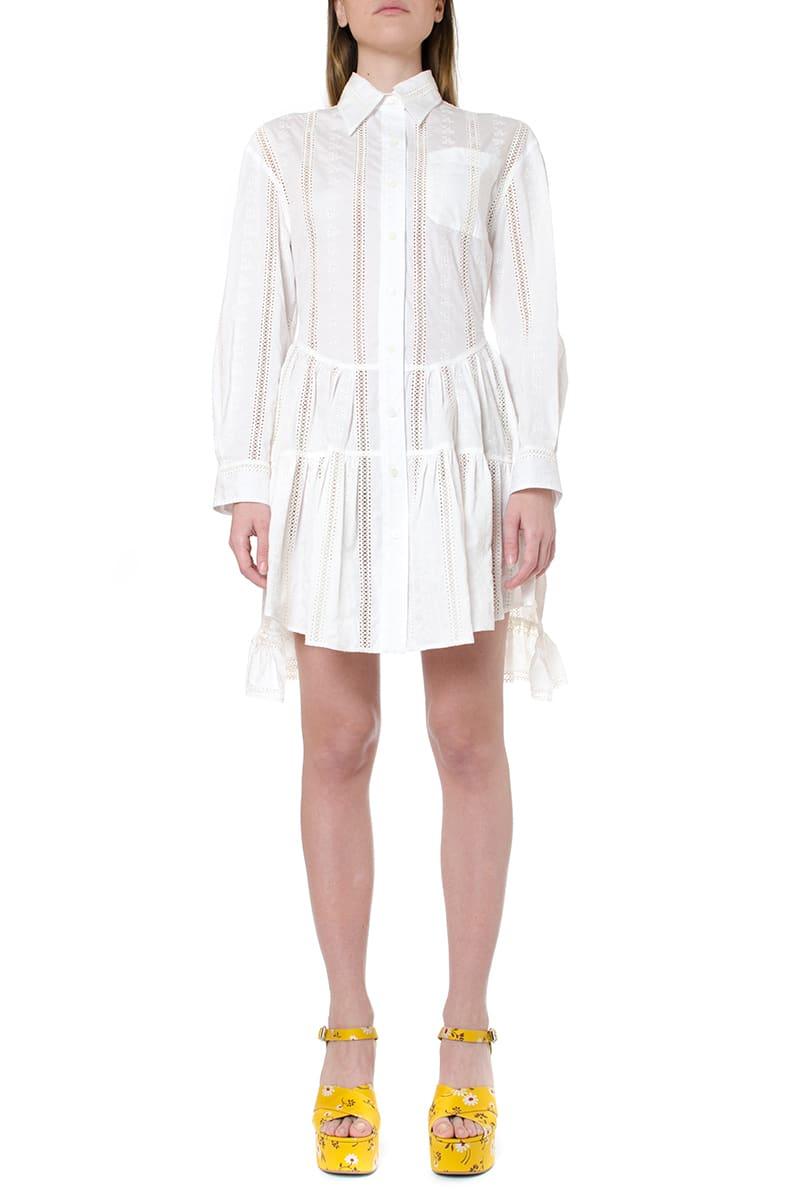Buy Miu Miu Embroidered Shirt Dress online, shop Miu Miu with free shipping