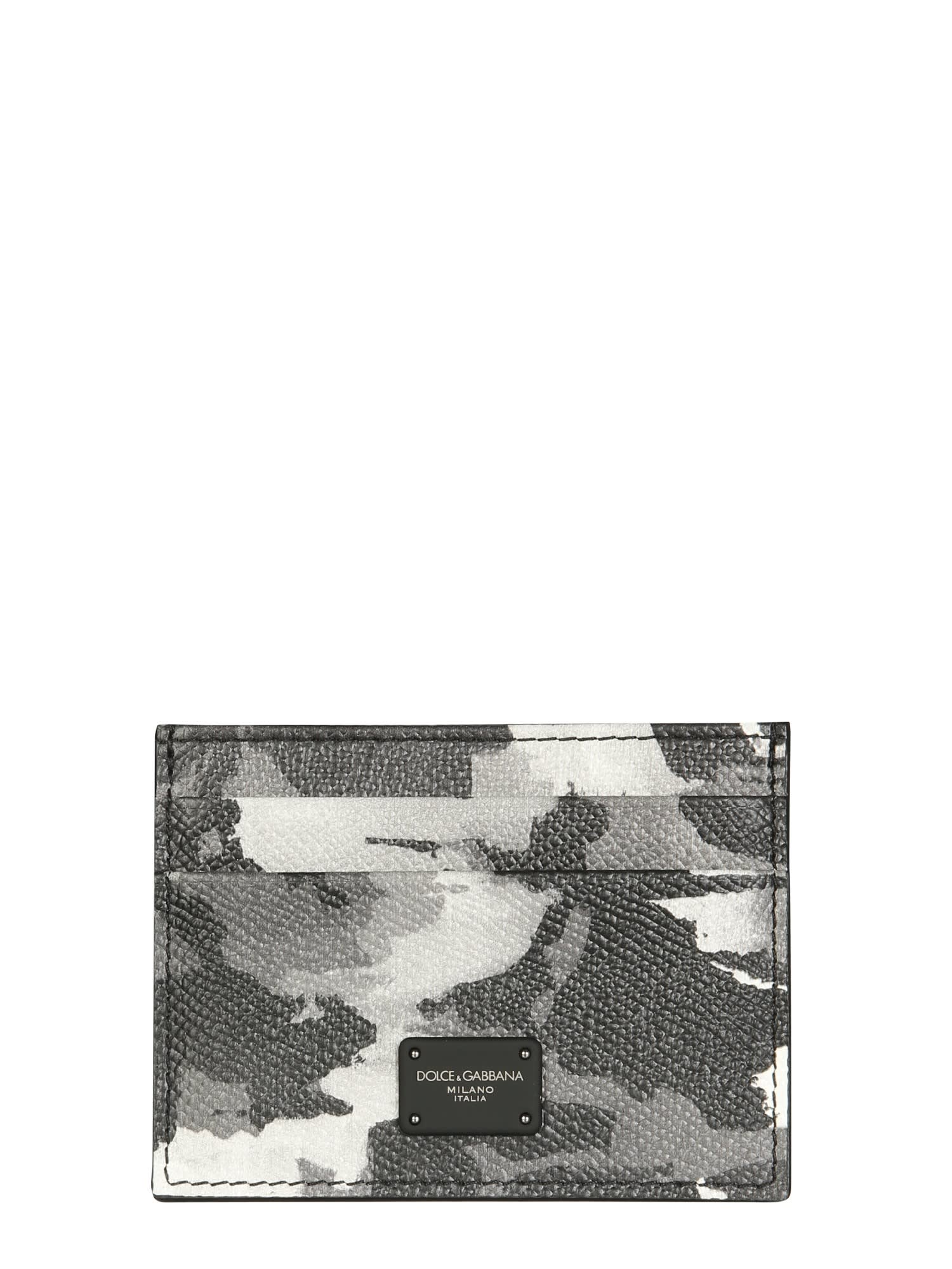 Dolce & Gabbana CARD HOLDER WITH CAMOFLAUGE PRINT AND LOGO