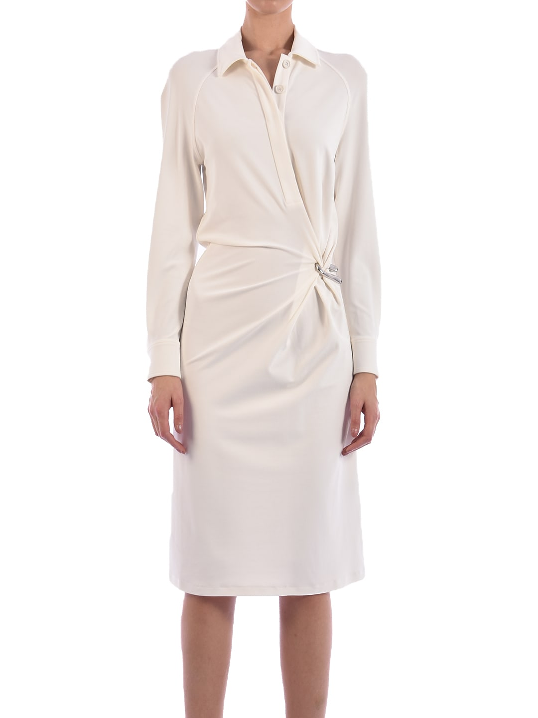 Buy Bottega Veneta Jersey Dress White online, shop Bottega Veneta with free shipping