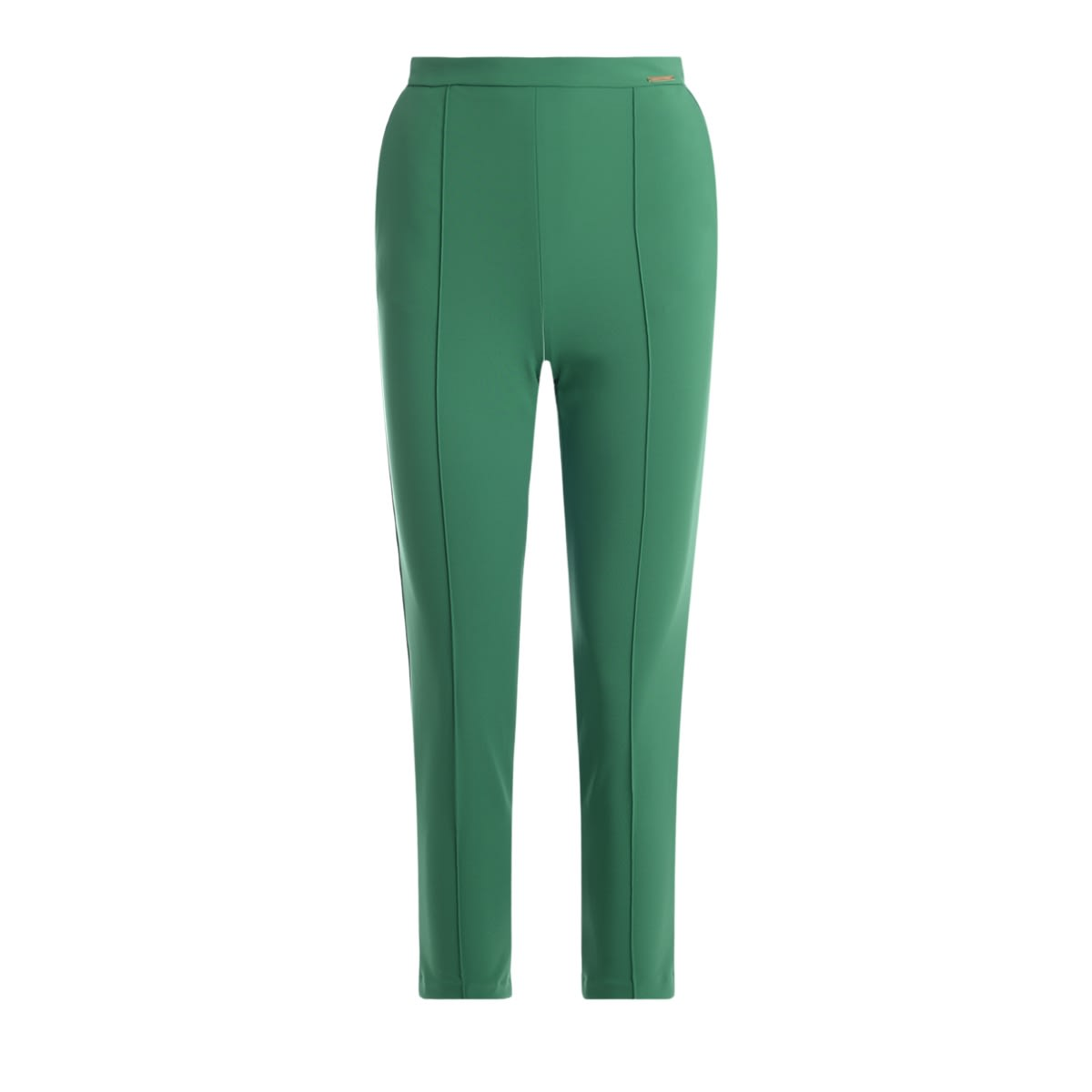 Elisabetta Franchi Trousers Made Of Green Fabric