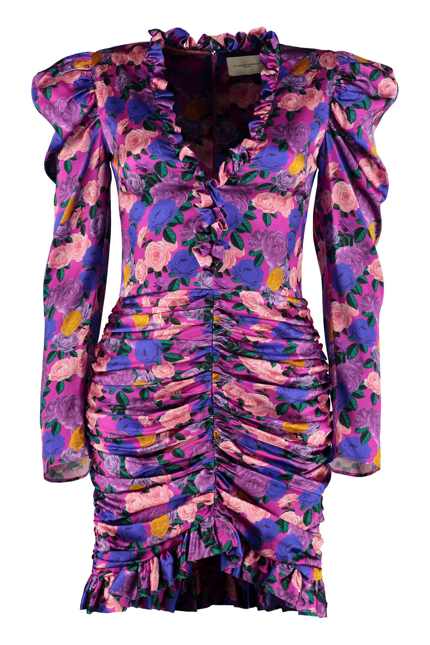 Buy Giuseppe di Morabito Ruffled Silk Mini Dress online, shop Giuseppe di Morabito with free shipping