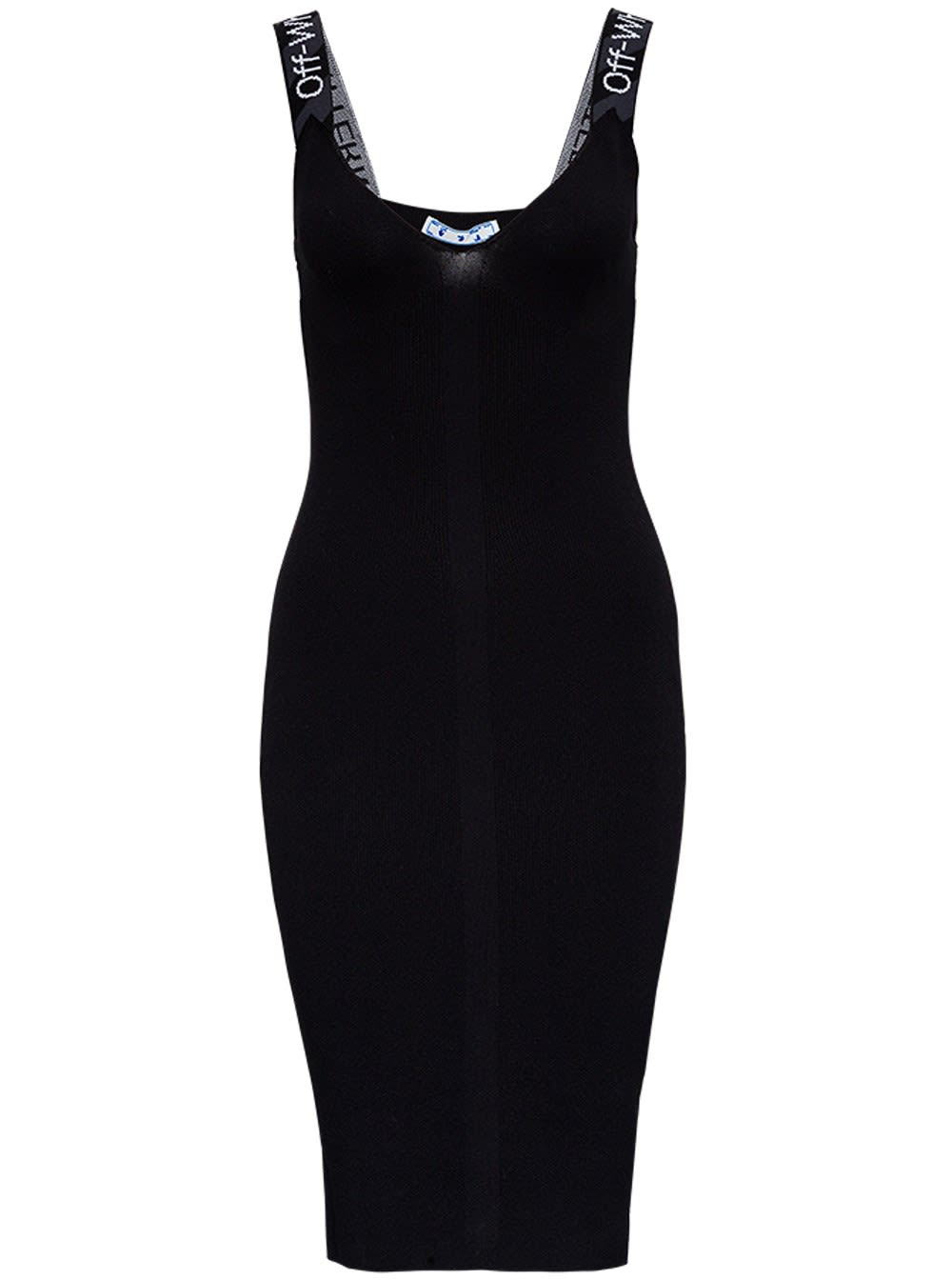 Buy Off-White Tight-fitting Dress With Logoed Straps online, shop Off-White with free shipping