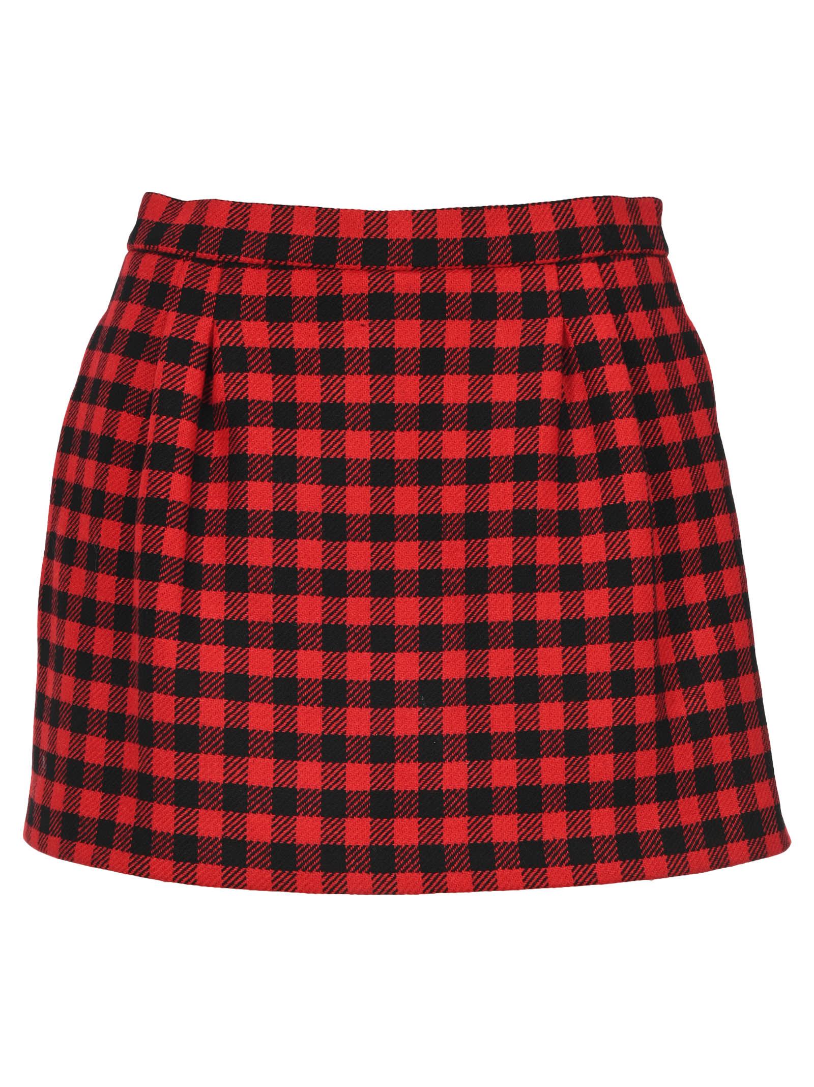Red Valentino Check Motif Shorts