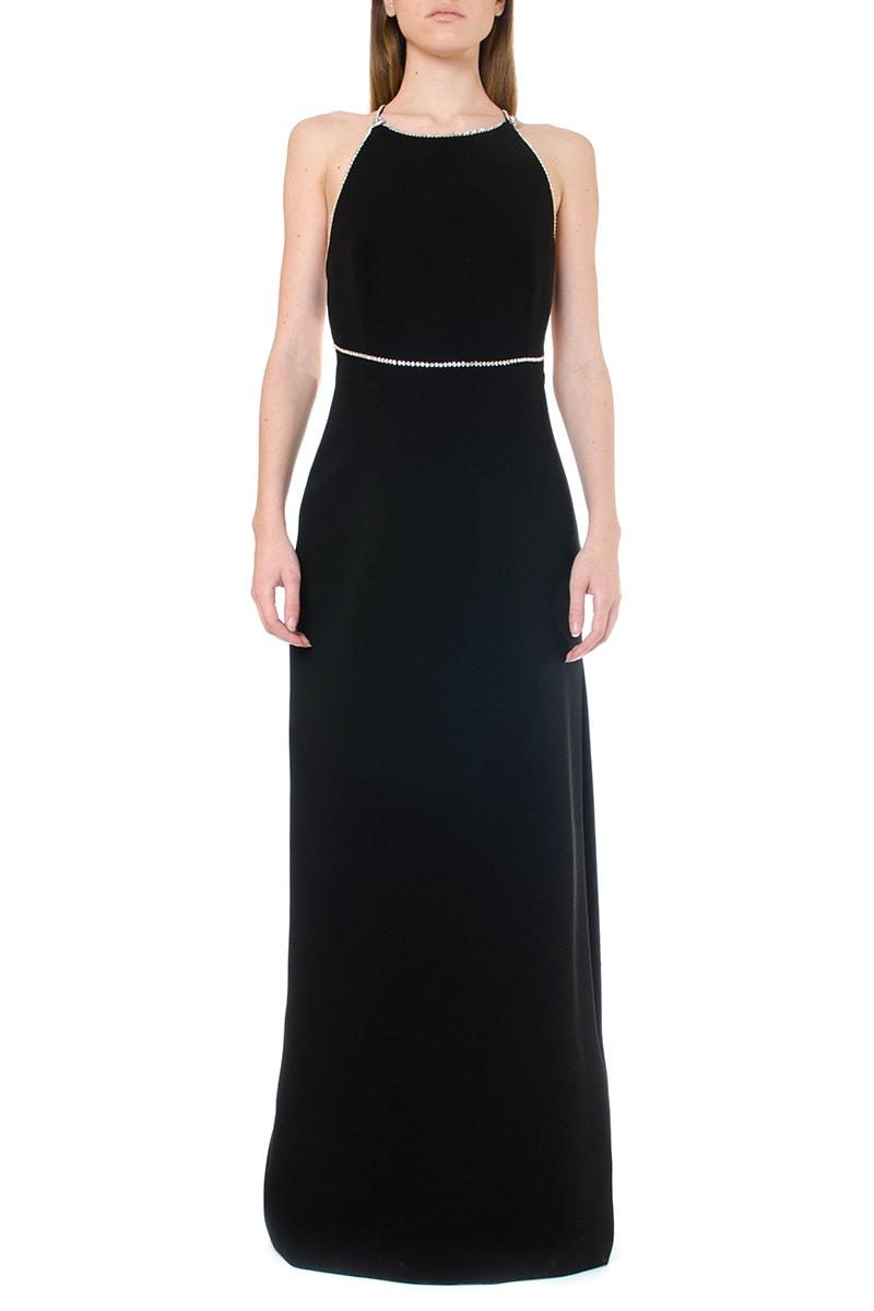 Buy Miu Miu Black Crystals Embellishment Maxi Dress online, shop Miu Miu with free shipping