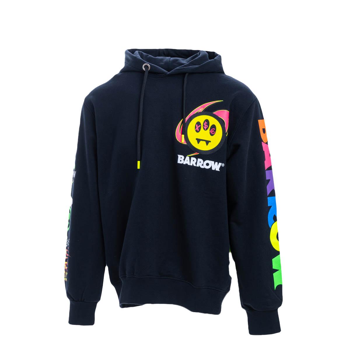 Barrow Cotton Sweatshirt In Black