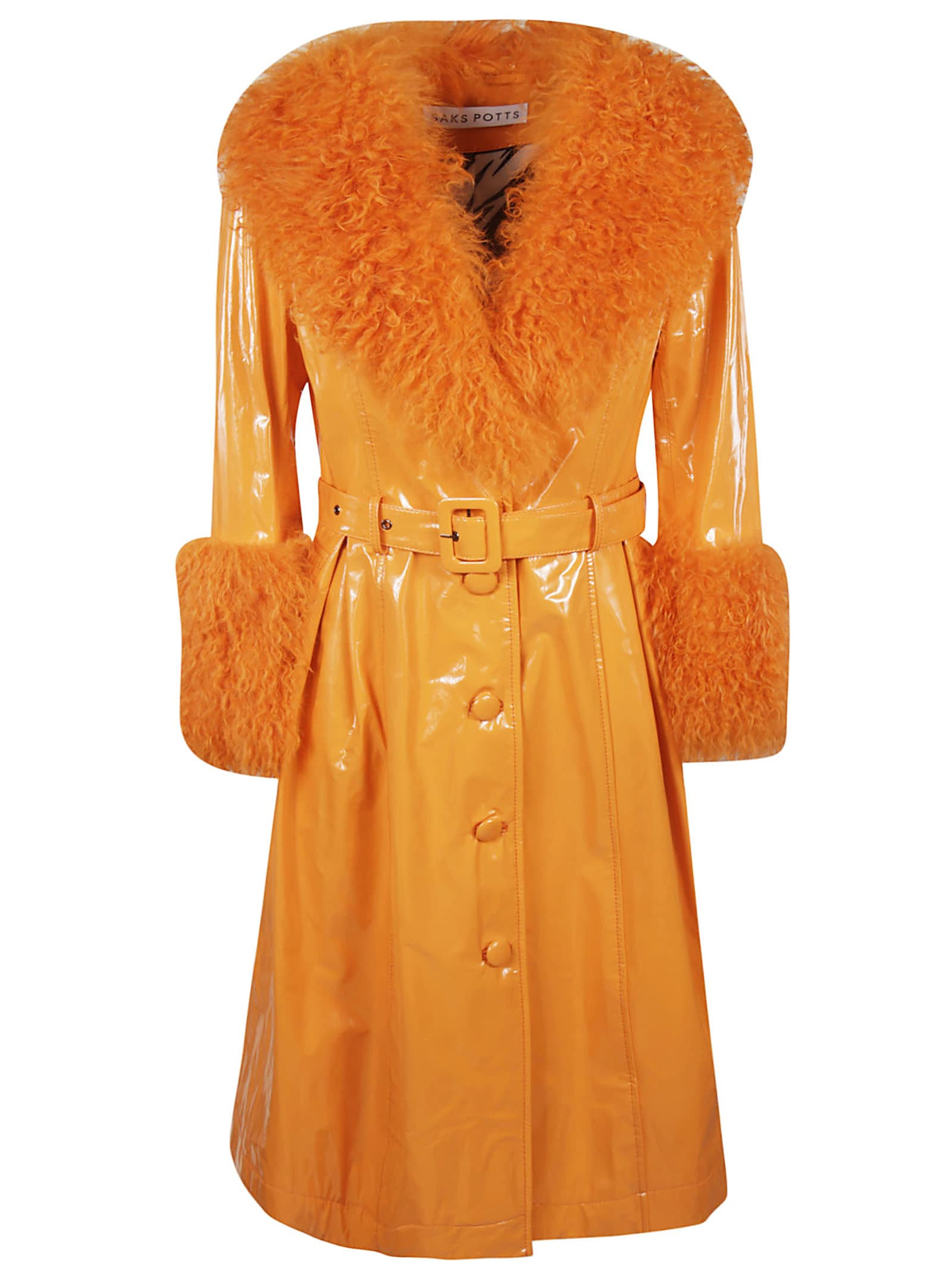 Saks Potts Foxy Shearling Gloss Coat