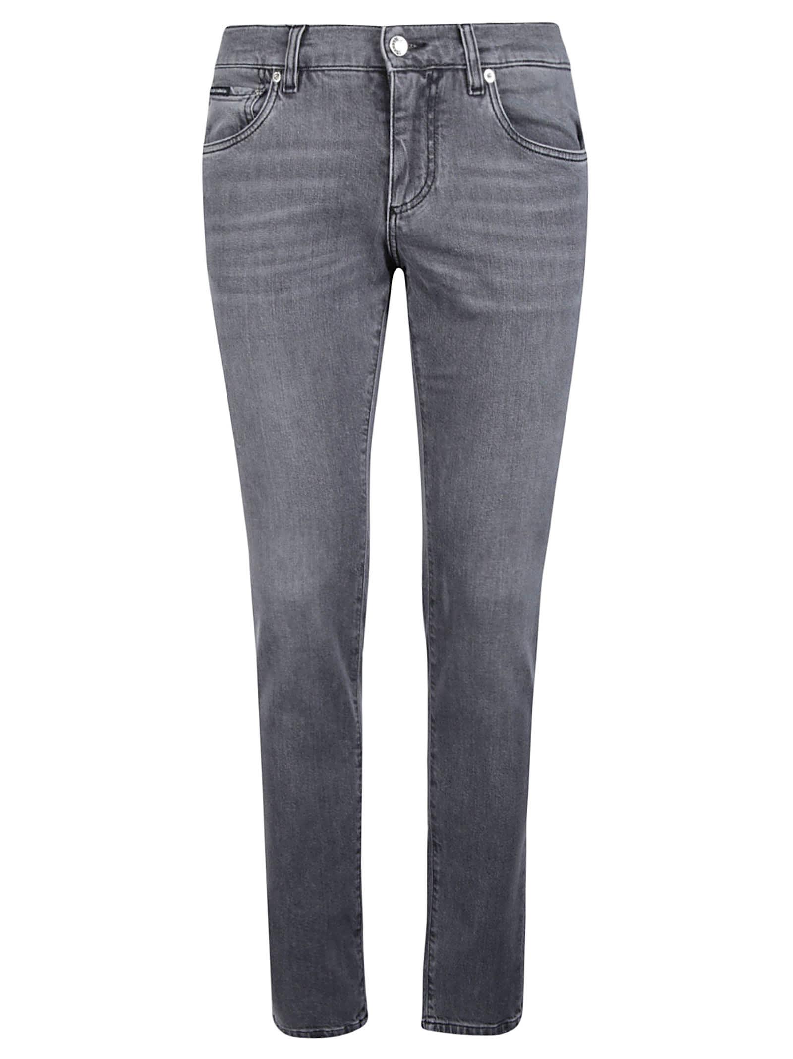 Dolce & Gabbana Stonewashed 5 Pockets Slim Jeans In Variante Abbinata